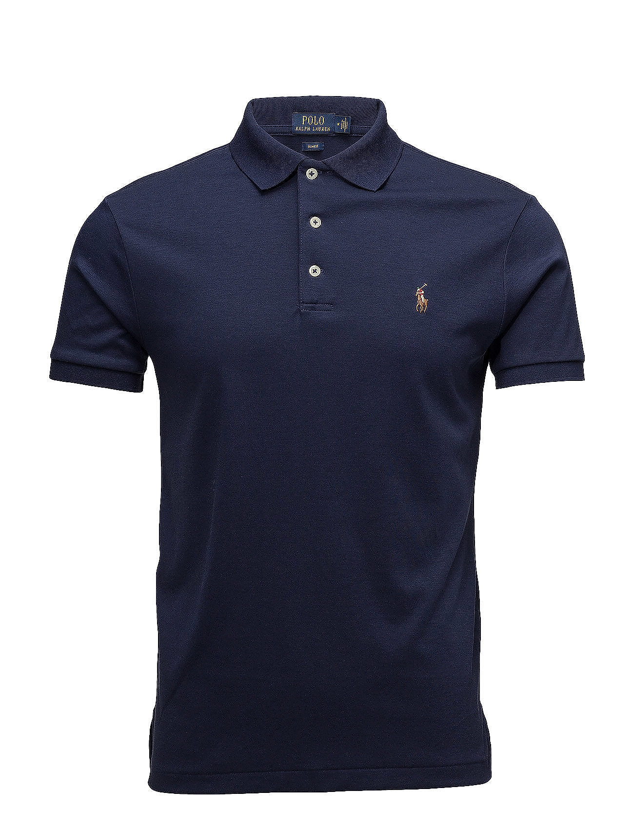 d9538e7a Slim Fit Soft-touch Polo Shirt (French Navy) (£85) - Polo Ralph ...