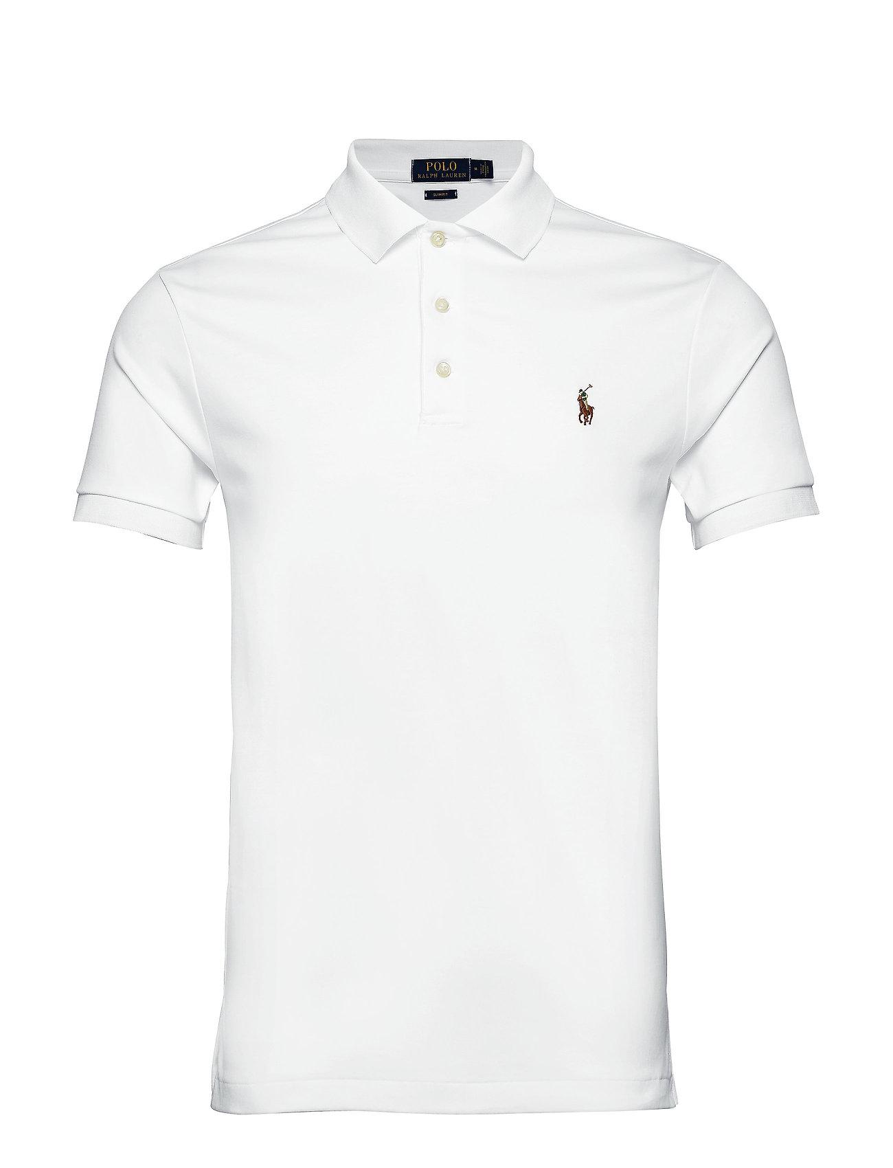 Polo Ralph Lauren Slim Fit Soft-Touch Polo Shirt - WHITE