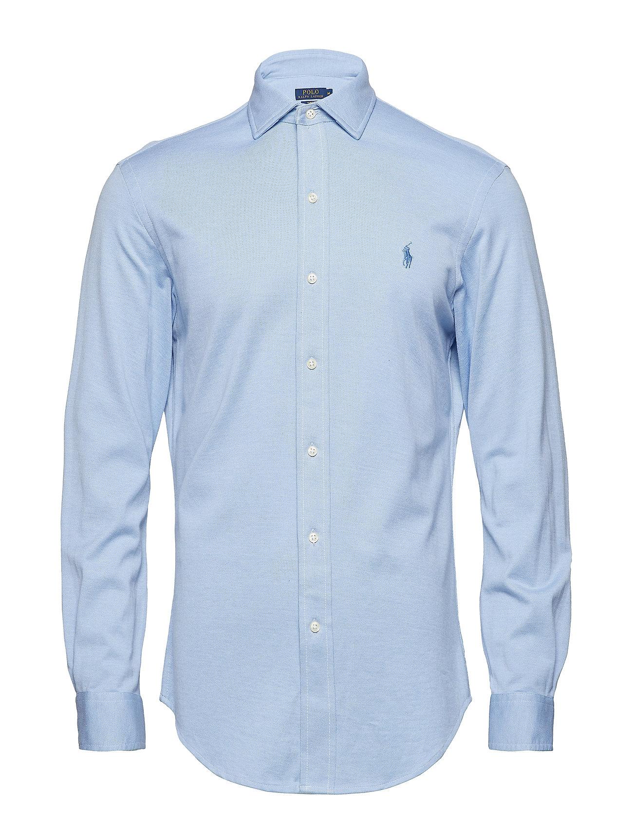 154c75f5729f14 Classic Fit Knit Oxford Shirt (Harbor Island Blu) (£100) - Polo ...