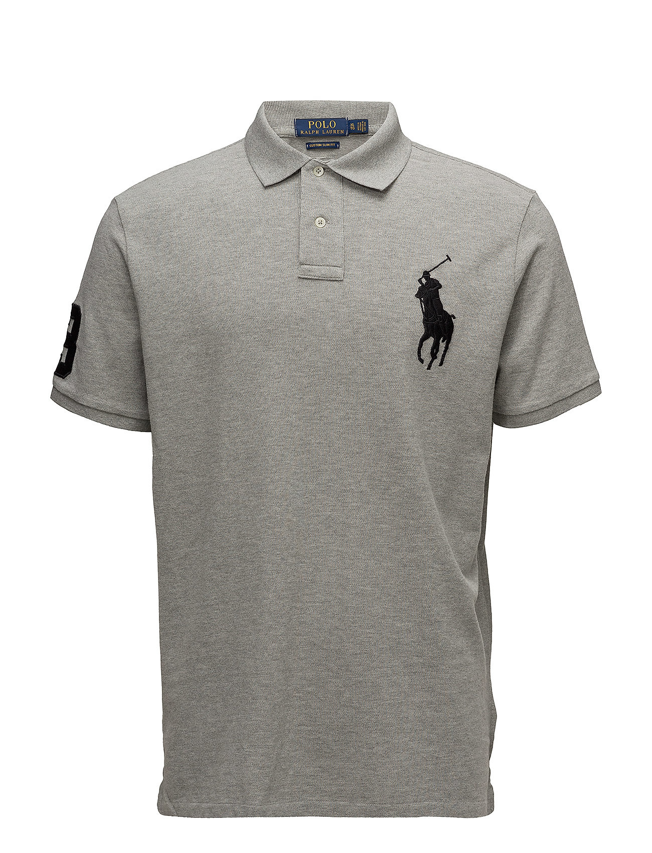 76ef809d0 Custom Slim Fit Mesh Polo (Andover Heather) (£109) - Polo Ralph ...