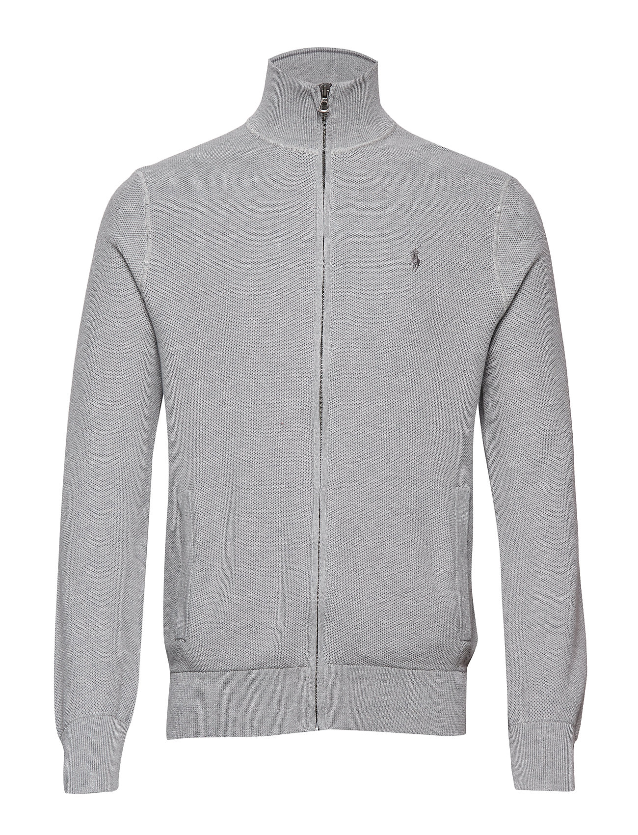 Polo Ralph Lauren Cotton Full-Zip Sweater - ANDOVER HEATHER