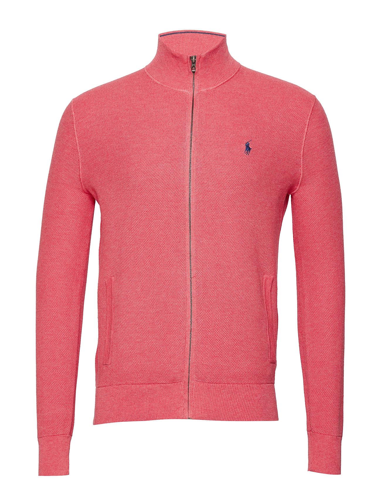Polo Ralph Lauren Cotton Full-Zip Sweater - HIGHLAND ROSE HEA