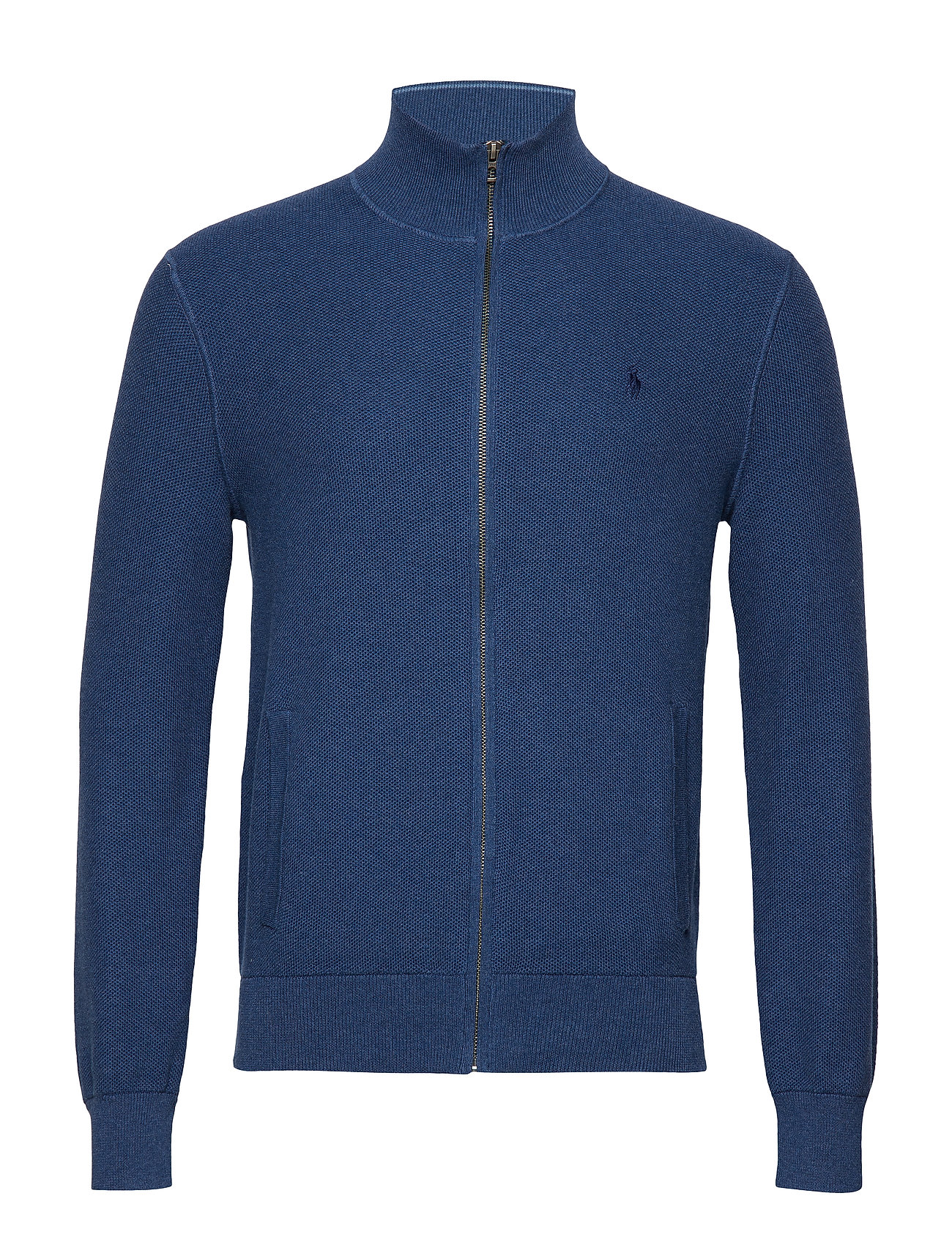 Polo Ralph Lauren Cotton Full-Zip Sweater - INDIGO HEATHER