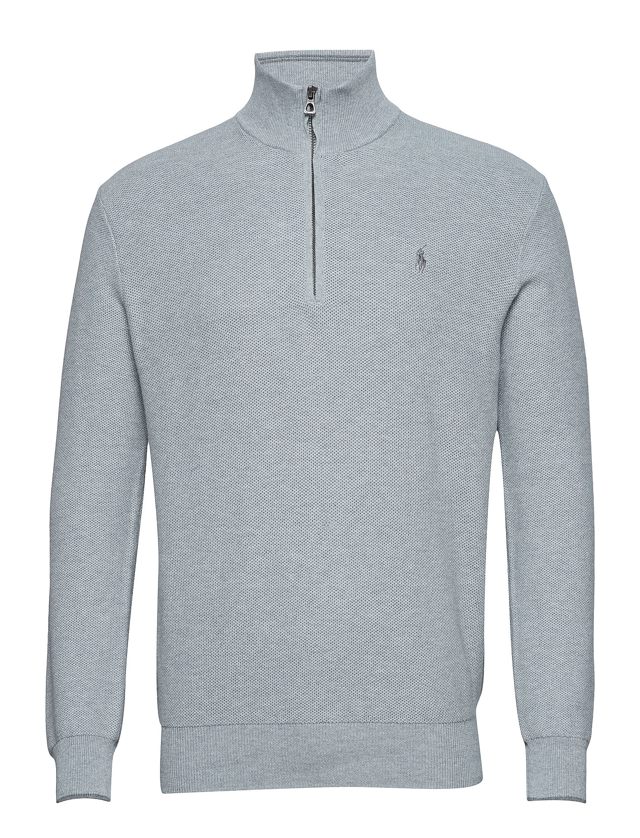 Polo Ralph Lauren Cotton Half-Zip Sweater - ANDOVER HEATHER