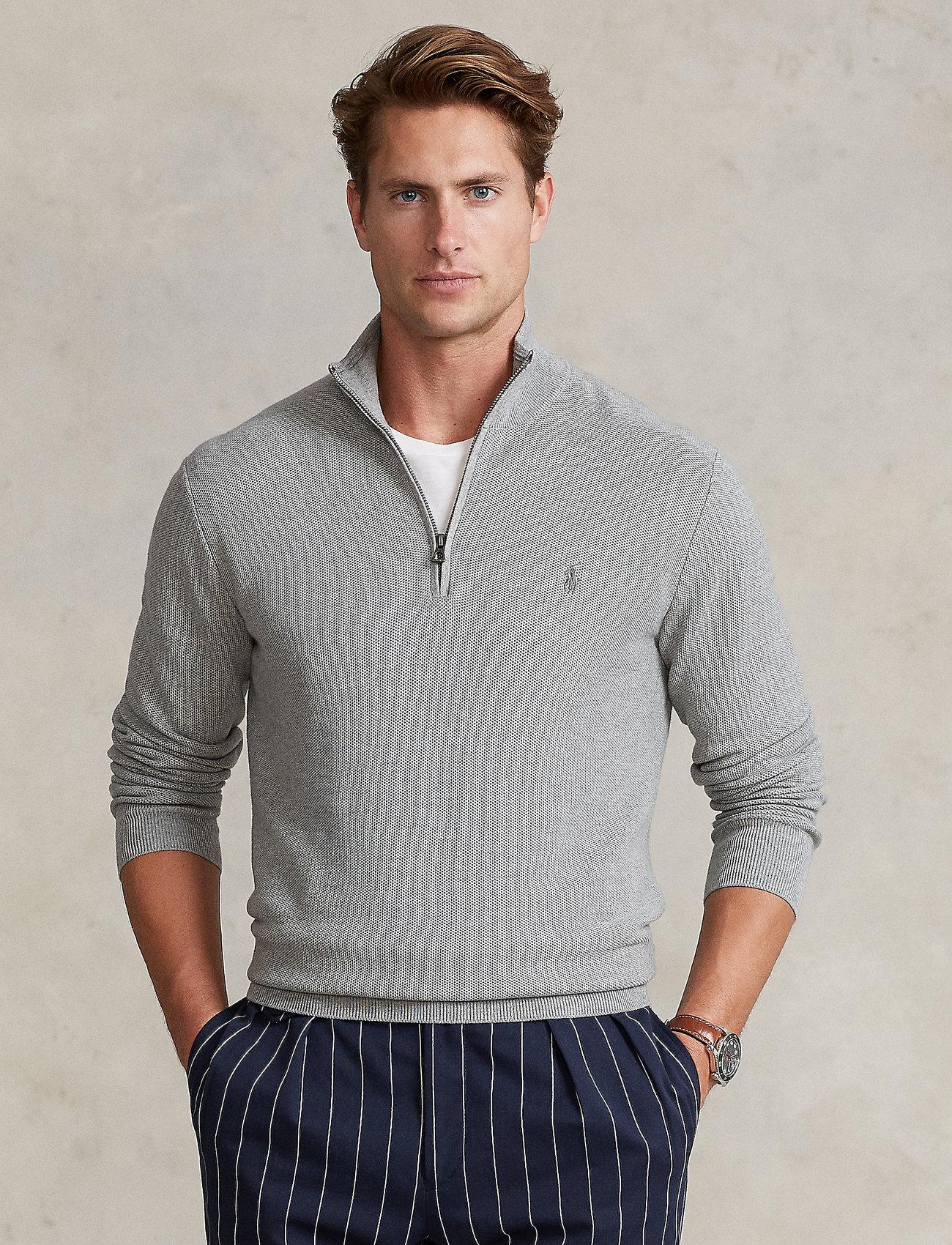 Polo Ralph Lauren - Cotton Half-Zip Sweater - half zip - andover heather - 0
