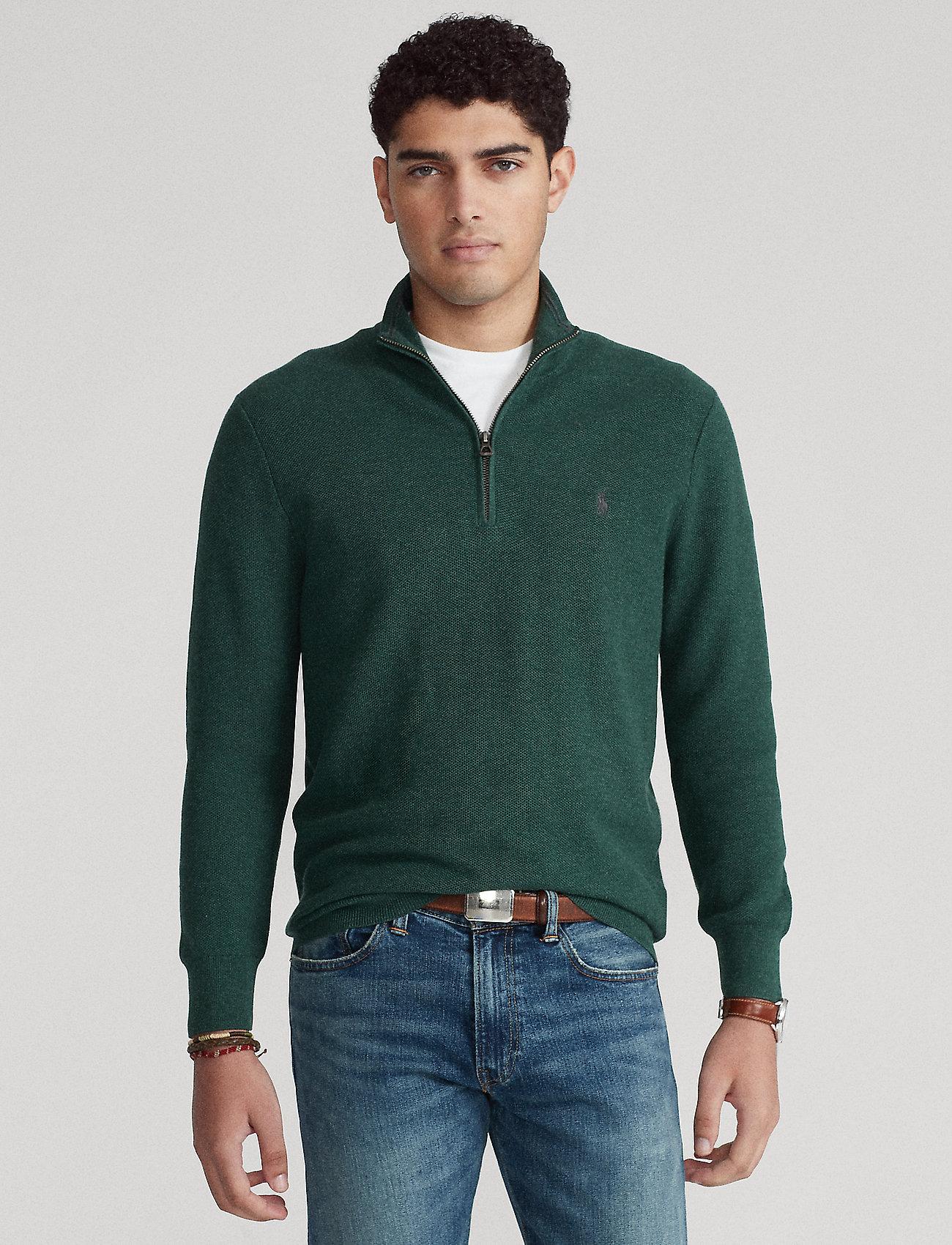 Polo Ralph Lauren - Cotton Half-Zip Sweater - half zip jumpers - hemlock green - 0