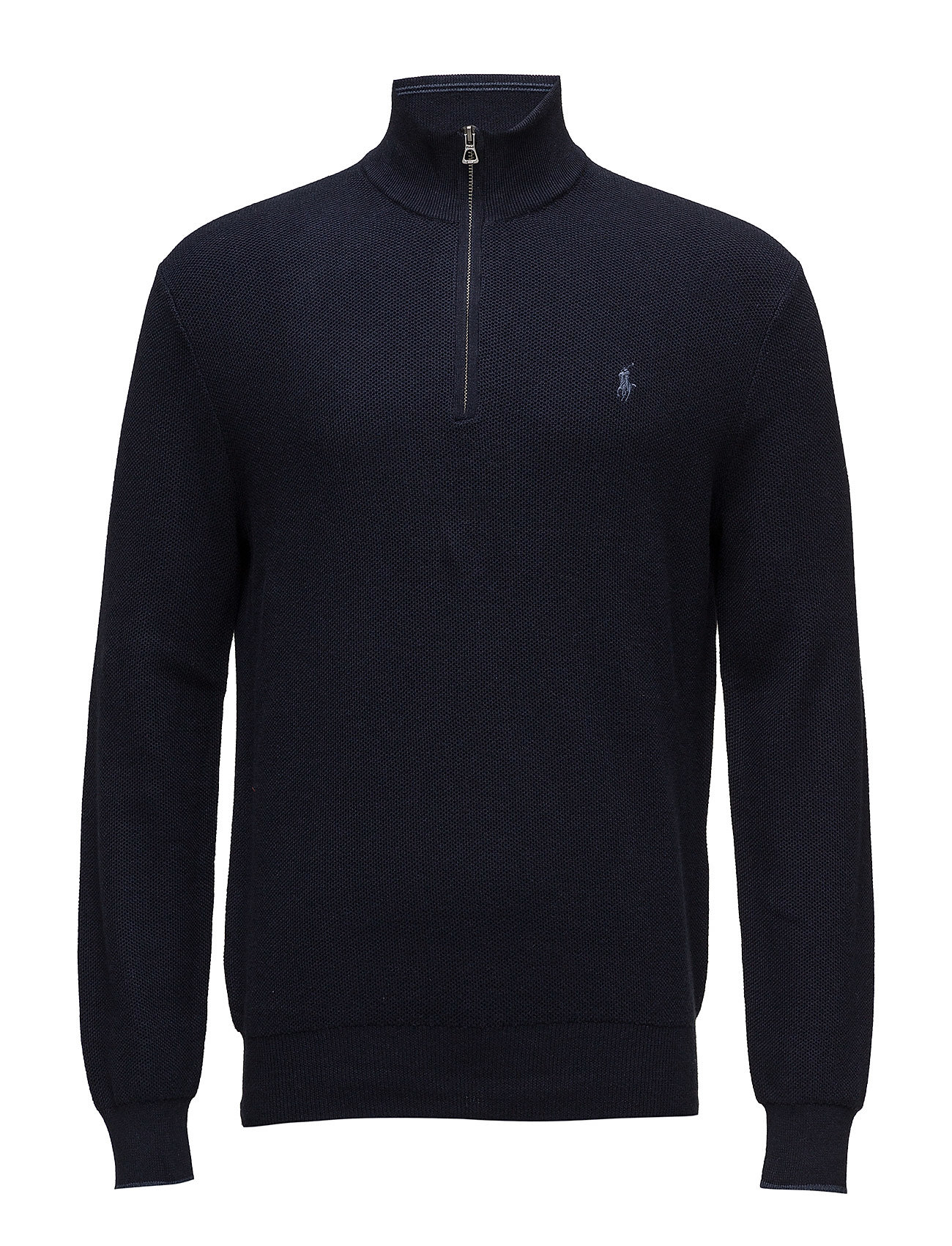 Polo Ralph Lauren Cotton Half-Zip Sweater - NAVY HEATHER