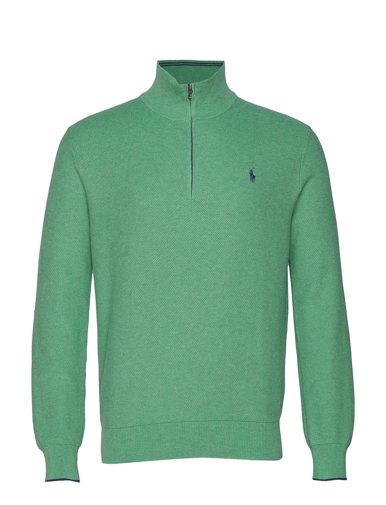 Polo Ralph Lauren Cotton Half-Zip Sweater - PALE EMERALD HEAT