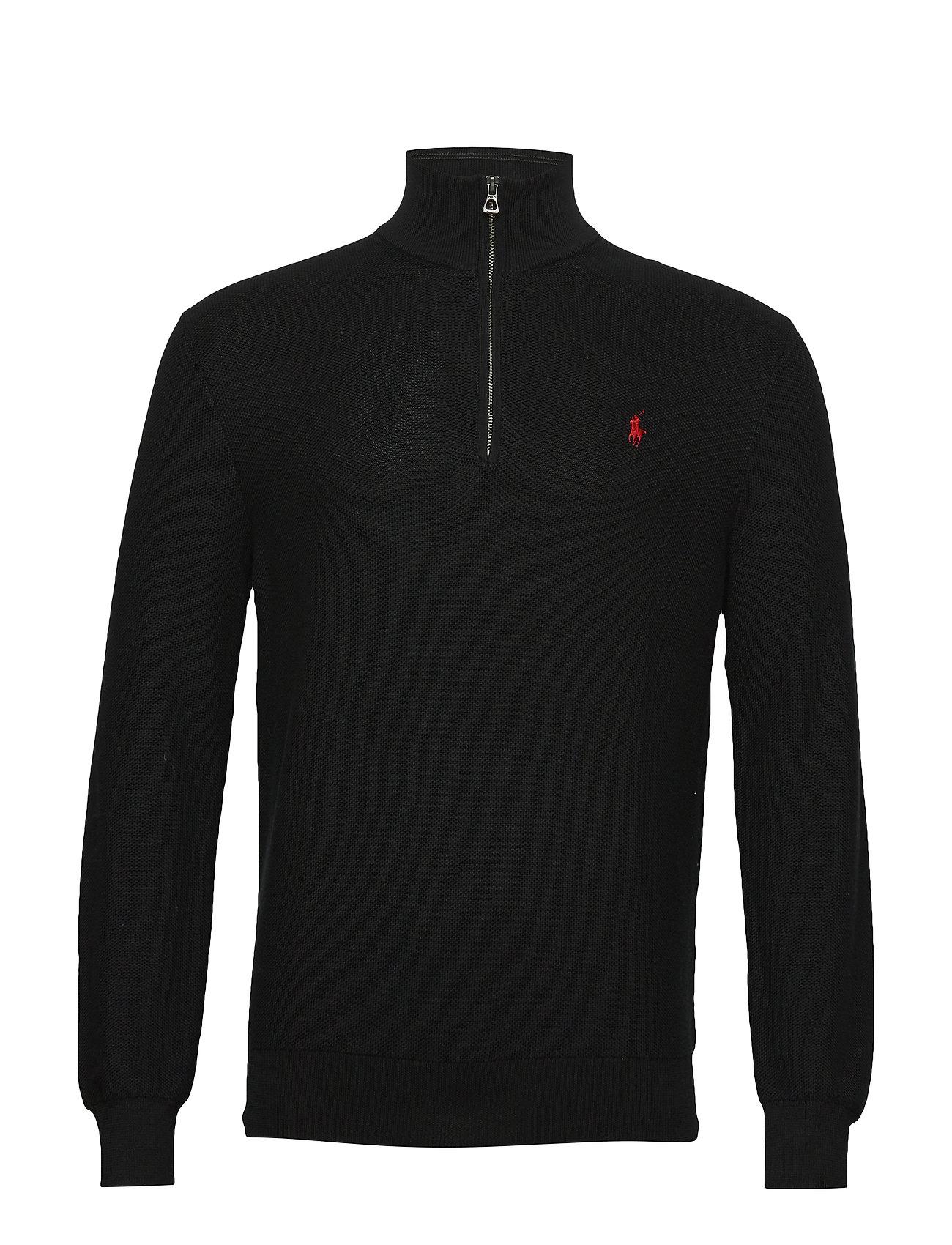 Polo Ralph Lauren Cotton Half-Zip Sweater - POLO BLACK
