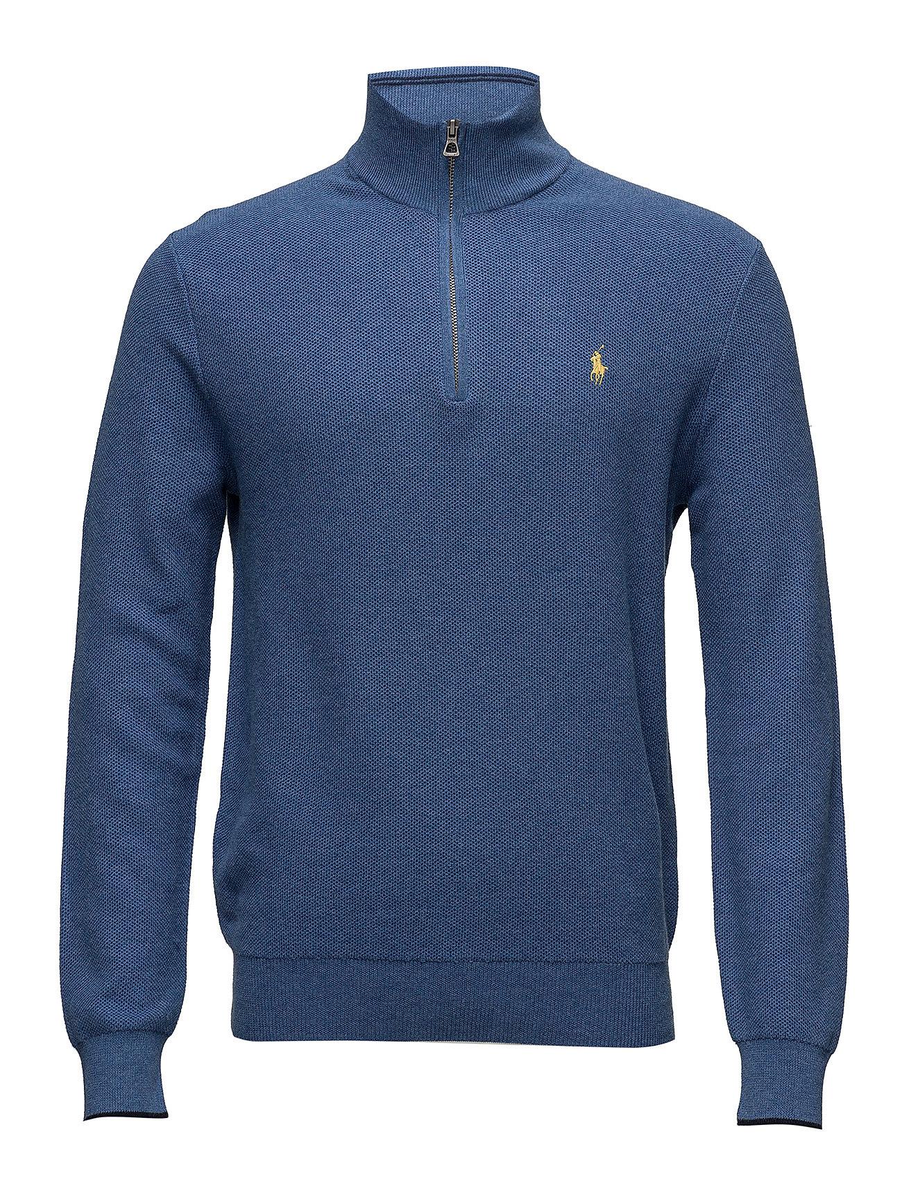 Polo Ralph Lauren Cotton Half-Zip Sweater - ROYAL HEATHER