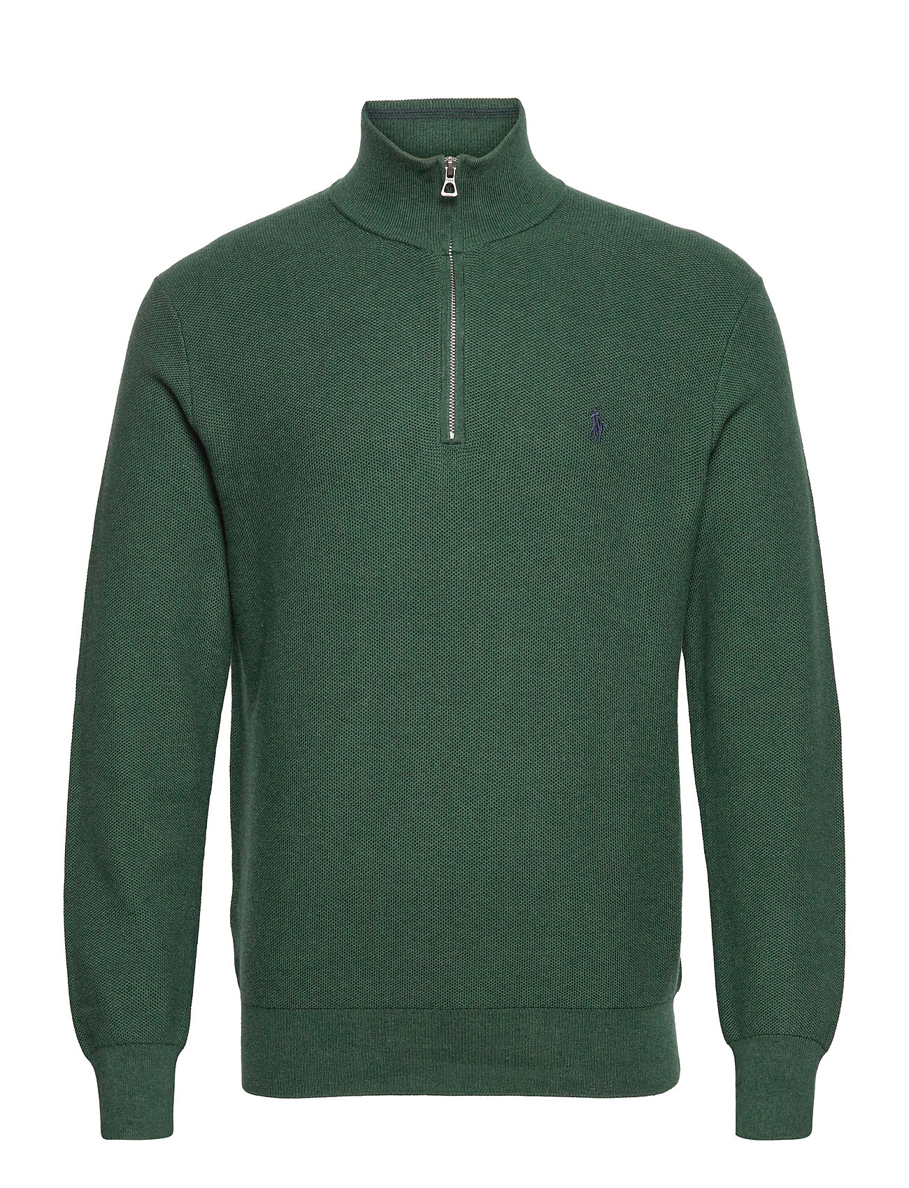 Polo Ralph Lauren Cotton Half-Zip Sweater - SCOTCH PINE HEATH