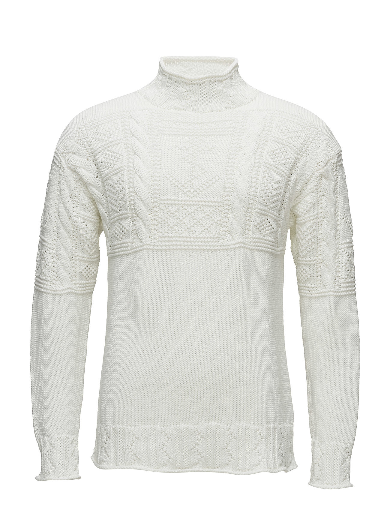 Polo Ralph Lauren ARANCABLE-LONGSLEEVE-SWEATER - WHITE