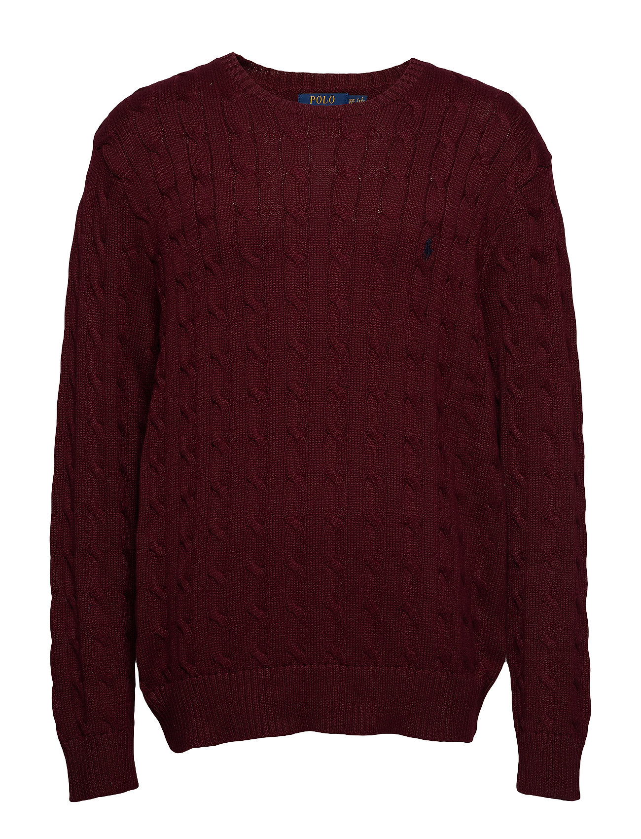 Polo Ralph Lauren Cable-Knit Cotton Sweater - CLASSIC WINE