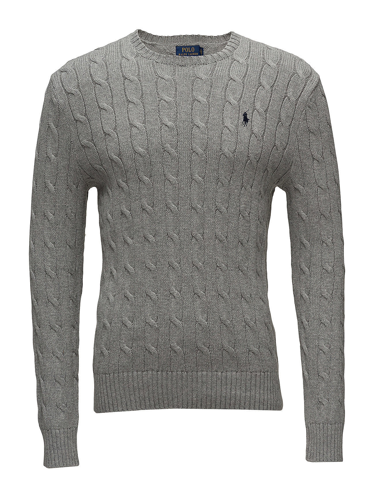 Polo Ralph Lauren Cable-Knit Cotton Sweater - FAWN GREY HEATHER