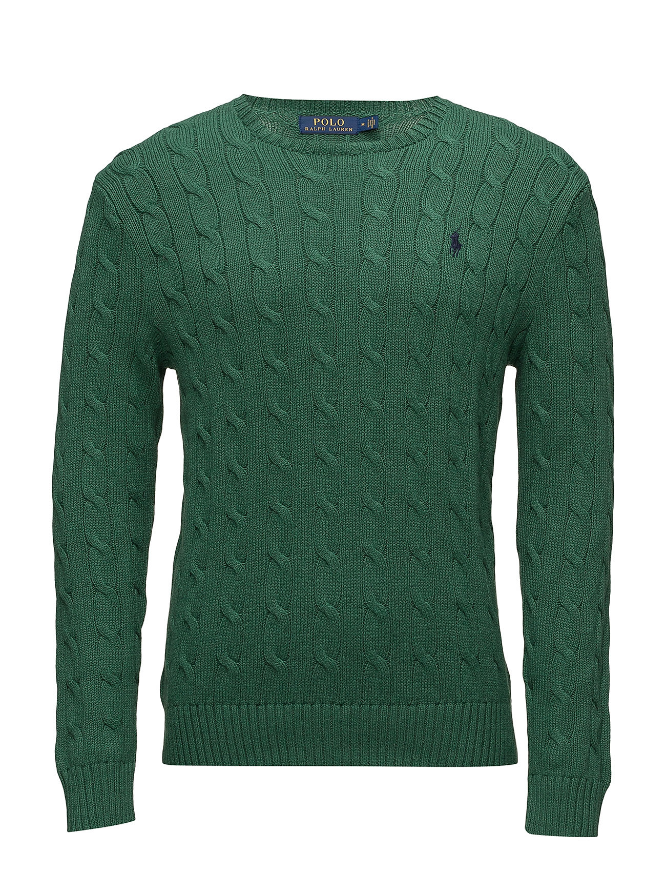 9a6b71d5fbaf Cable-knit Cotton Sweater (Verano Green Heat) (£81.25) - Polo Ralph ...