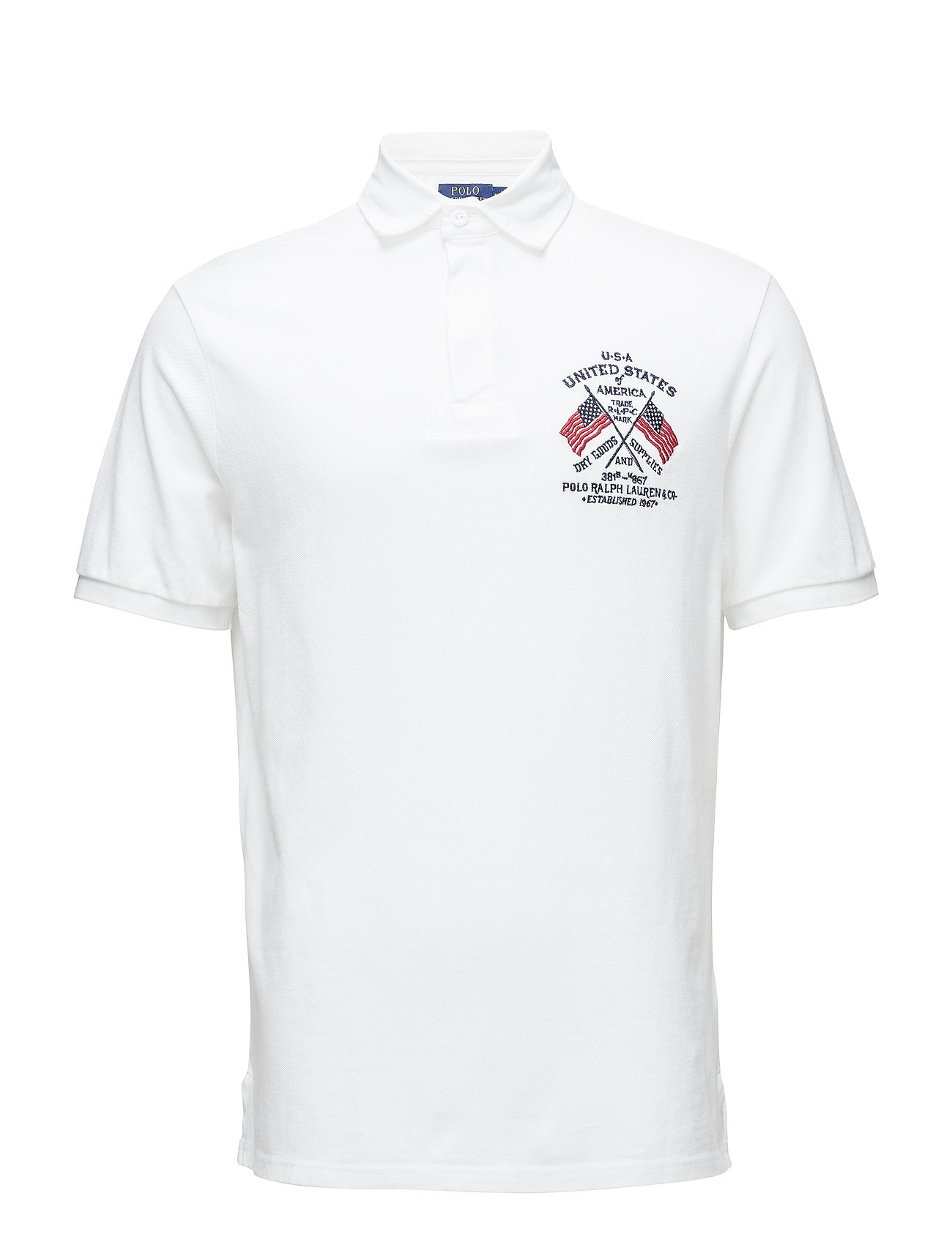 Polo Ralph Lauren SSRUGBYM4-SHORTSLEEVE-KNIT - WHITE