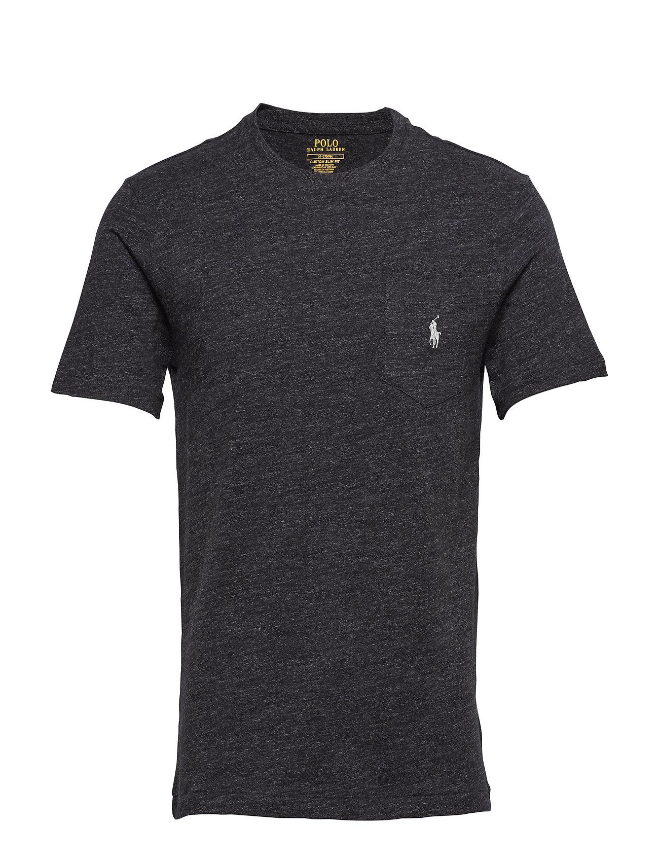 0926bfb449cabc Custom Slim Fit Pocket T-shirt (Black Marl Heathe) (£34.30) - Polo ...