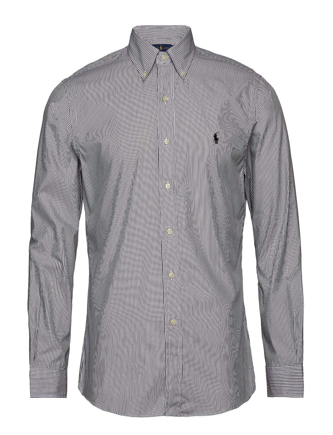 Polo Ralph Lauren Slim Fit Stretch Cotton Shirt - BLACK/WHITE HAIRL
