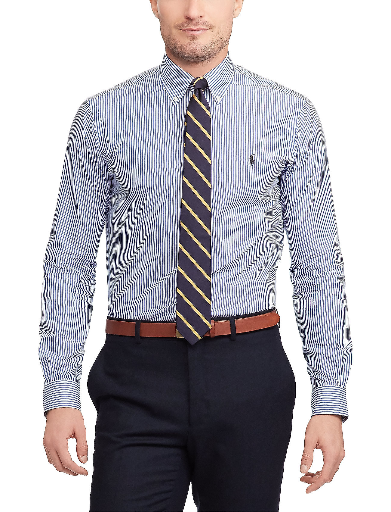 Polo Ralph Lauren - Slim Fit Stretch Cotton Shirt - business shirts - blue/white bengal - 0