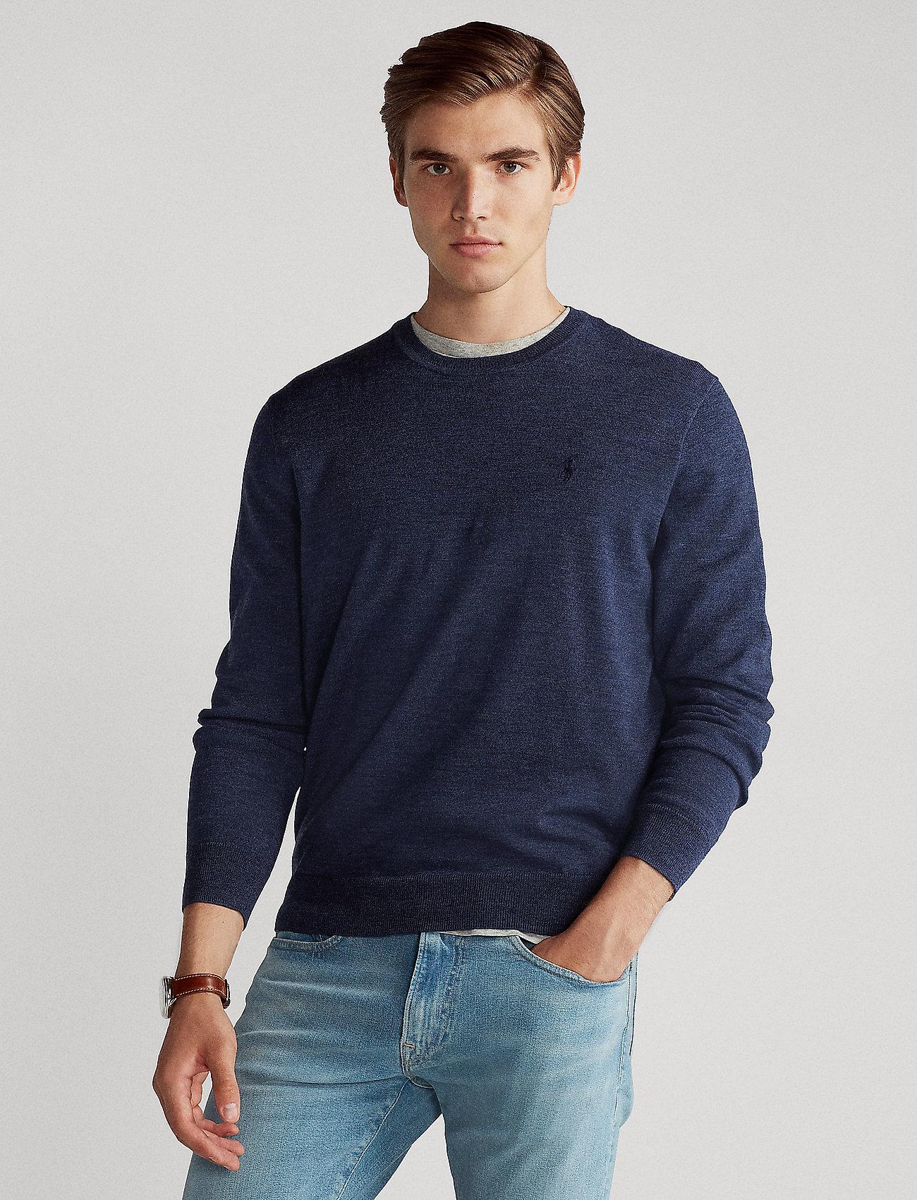 Polo Ralph Lauren - Slim Washable Merino Sweater - knitted round necks - fresco blue heath - 0