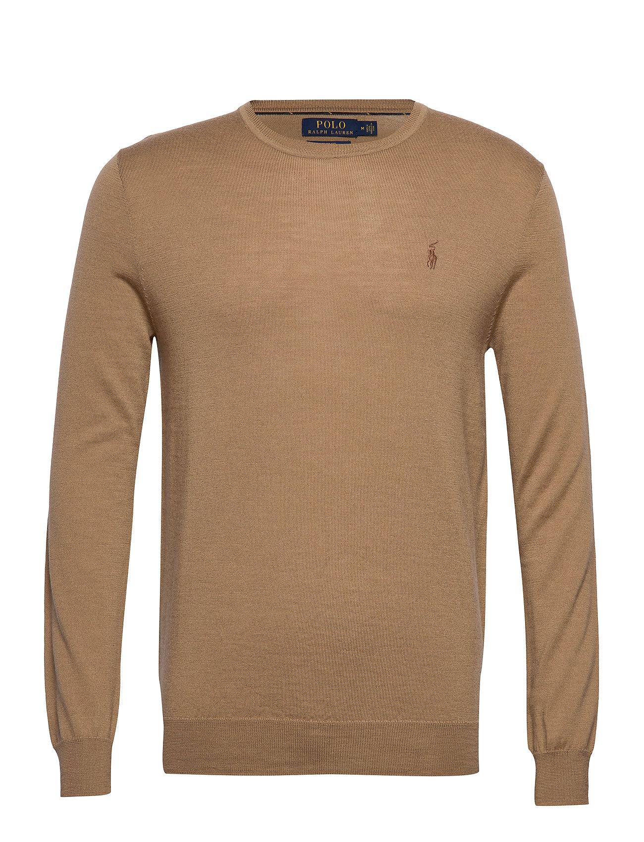 Polo Ralph Lauren Slim Washable Merino Sweater - LUXURY TAN HEATHE