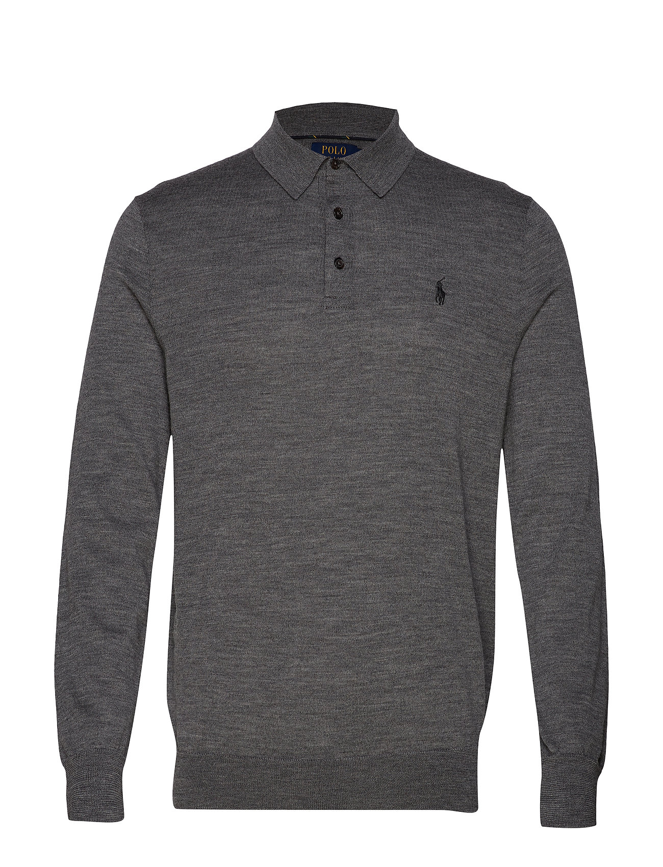 Polo Ralph Lauren LS PLACKET-LONG SLEEVE-SWEATER - FAWN GREY HEATHER