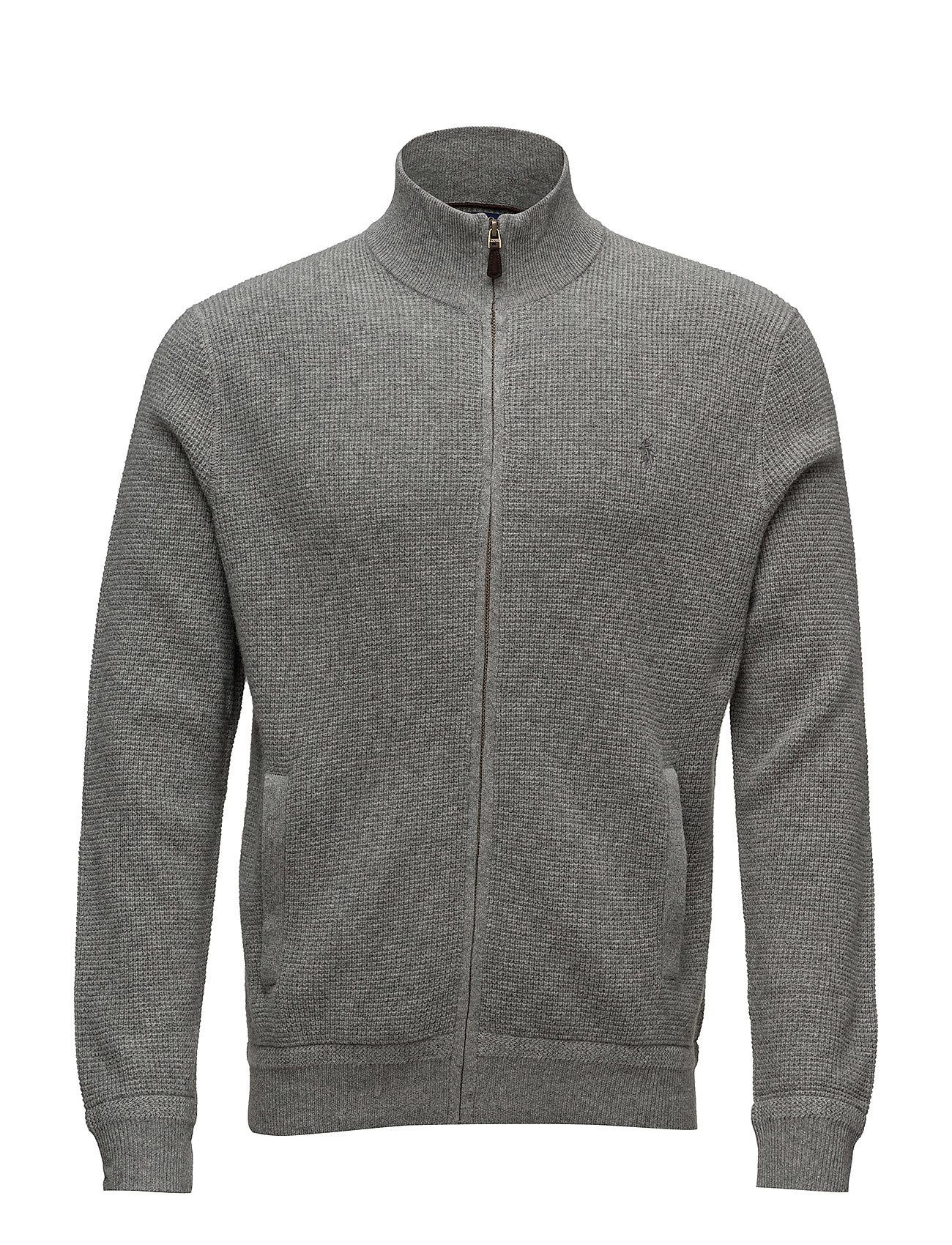 86814bd44bd Merino Wool Full-zip Sweater (Fawn Grey Heather) (£113.75) - Polo ...