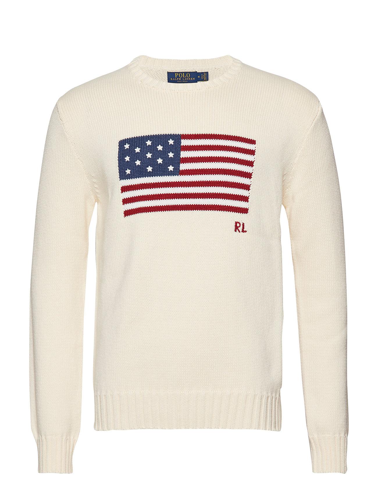 Polo Ralph Lauren LS CN FLAG-LONG SLEEVE-SWEATER - CREAM