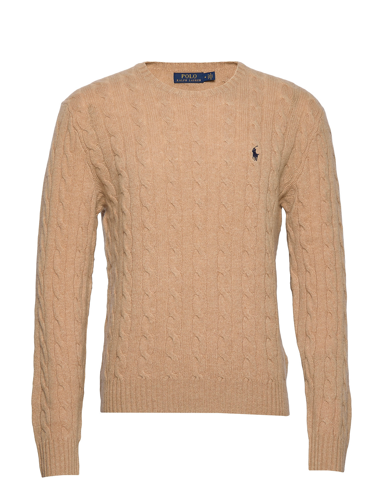 Polo Ralph Lauren LS CABLE CN-LONG SLEEVE-SWEATER - CAMEL MELANGE