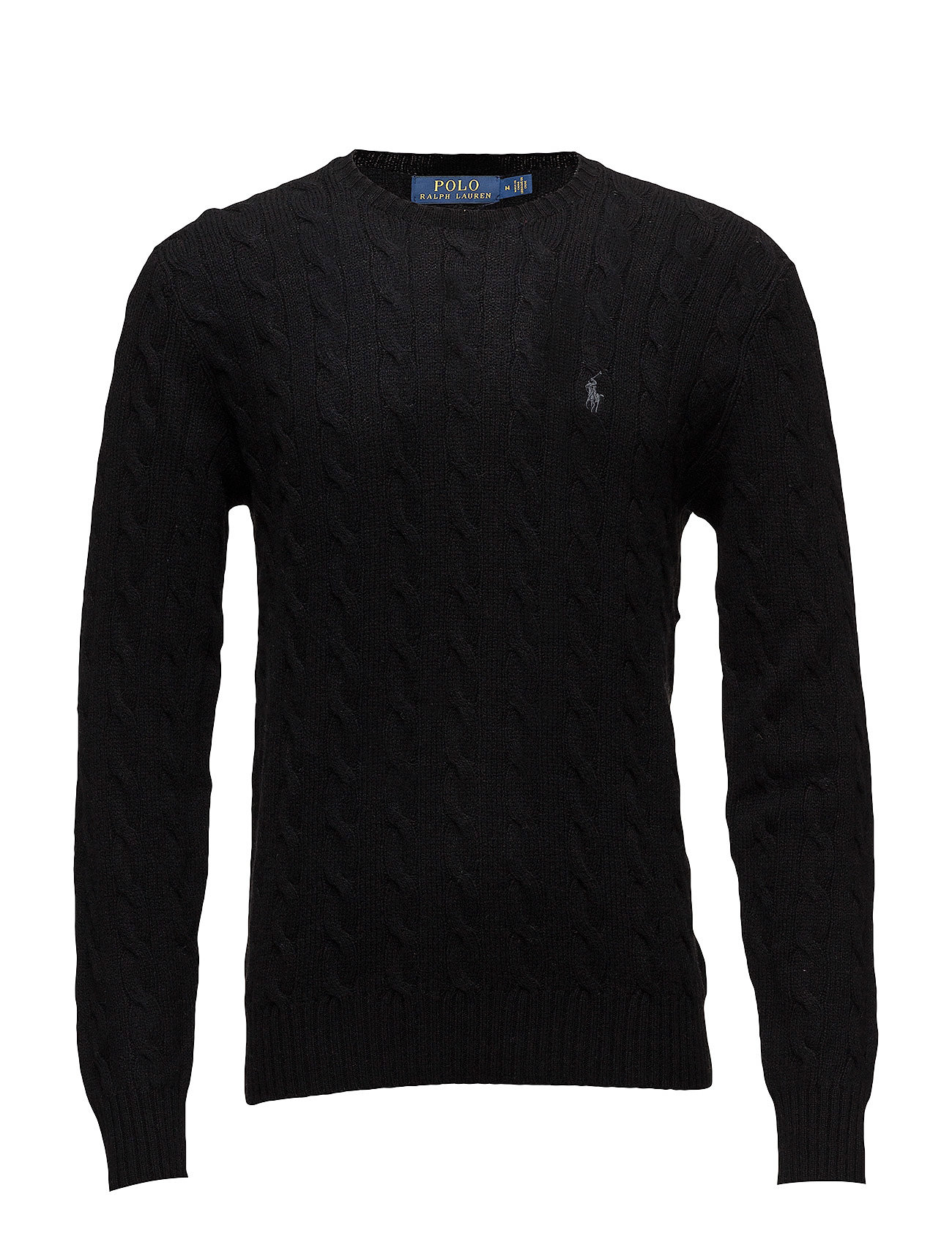 Polo Ralph Lauren LS CABLE CN-LONG SLEEVE-SWEATER - POLO BLACK
