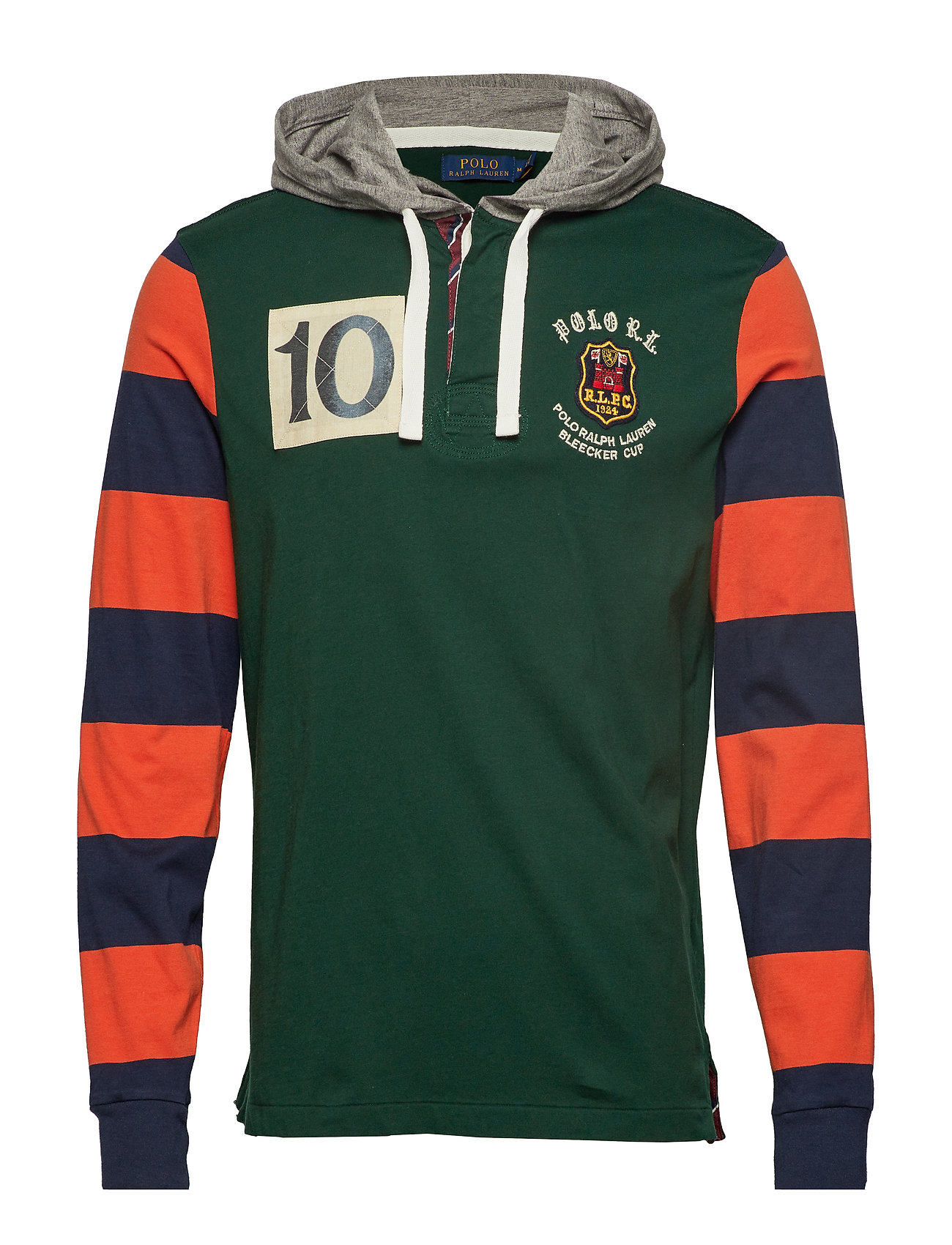 Classic Fit Rugby Hoodie (College Green Mul) (£93) - Polo Ralph ... 95bc2ca80