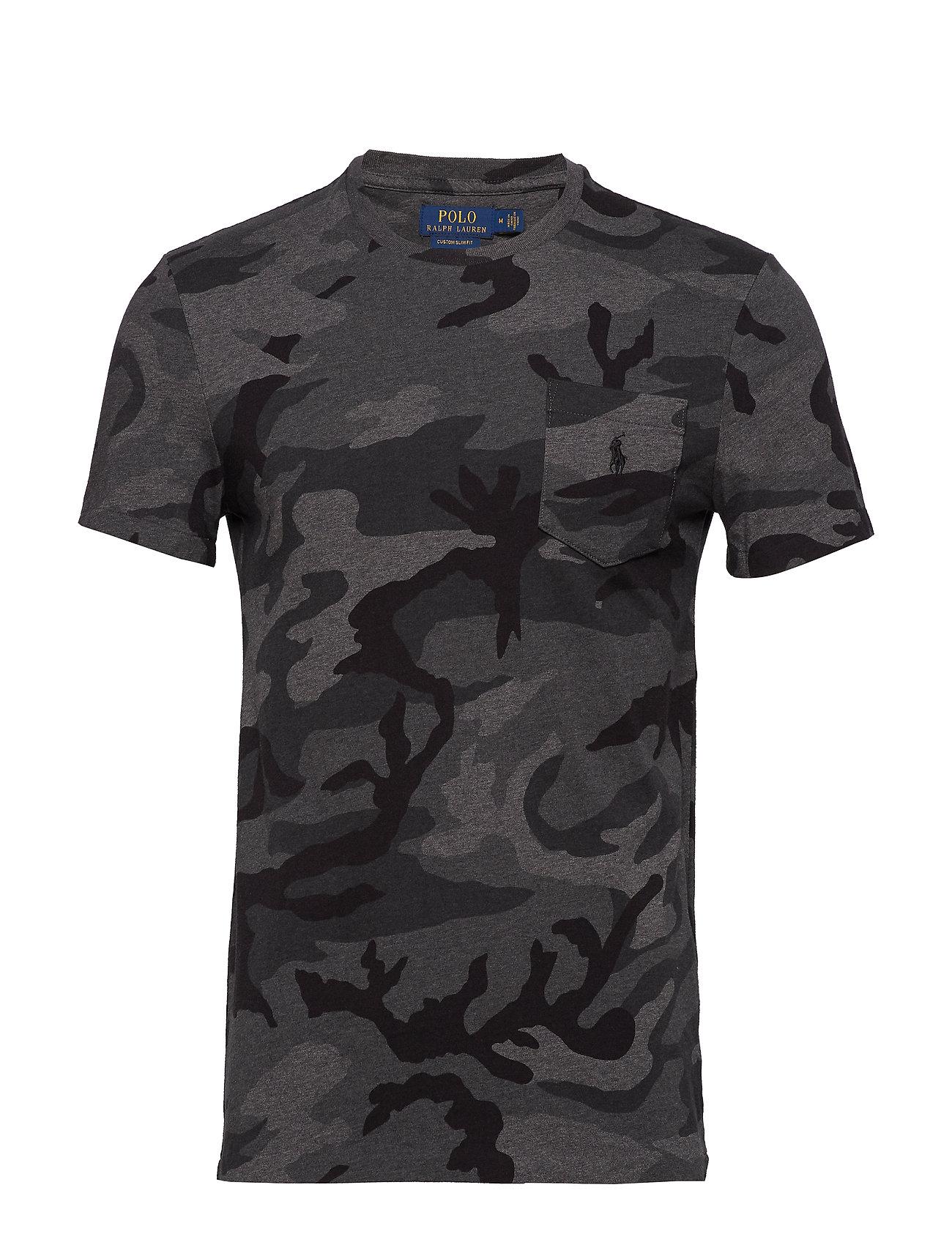 90ac1646e Custom Slim Fit Cotton T-shirt (Charcoal Rl Camo) (£69) - Polo Ralph ...
