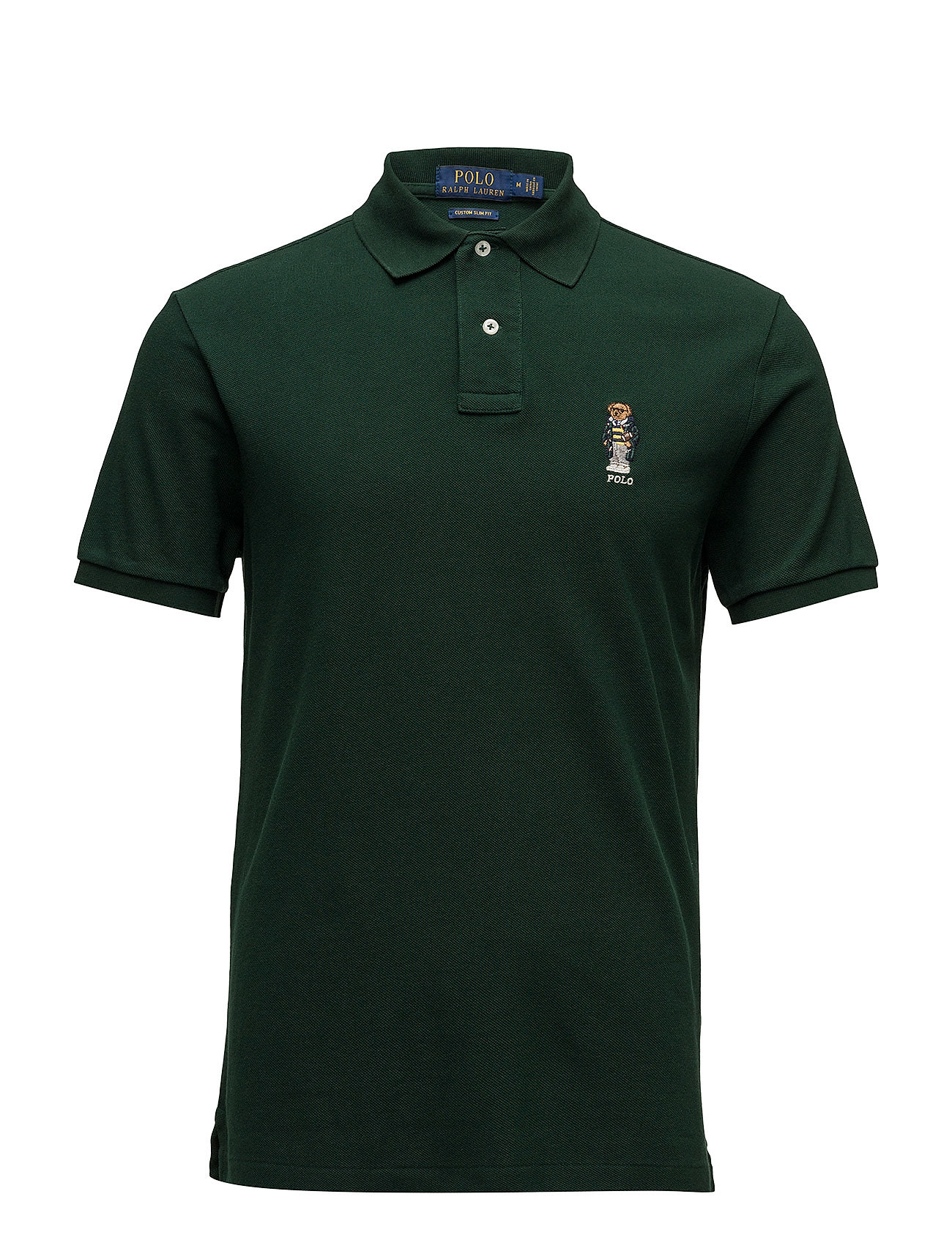 d89b91d94 Custom Slim Fit Bear Polo (College Green) (777 kr) - Polo Ralph ...