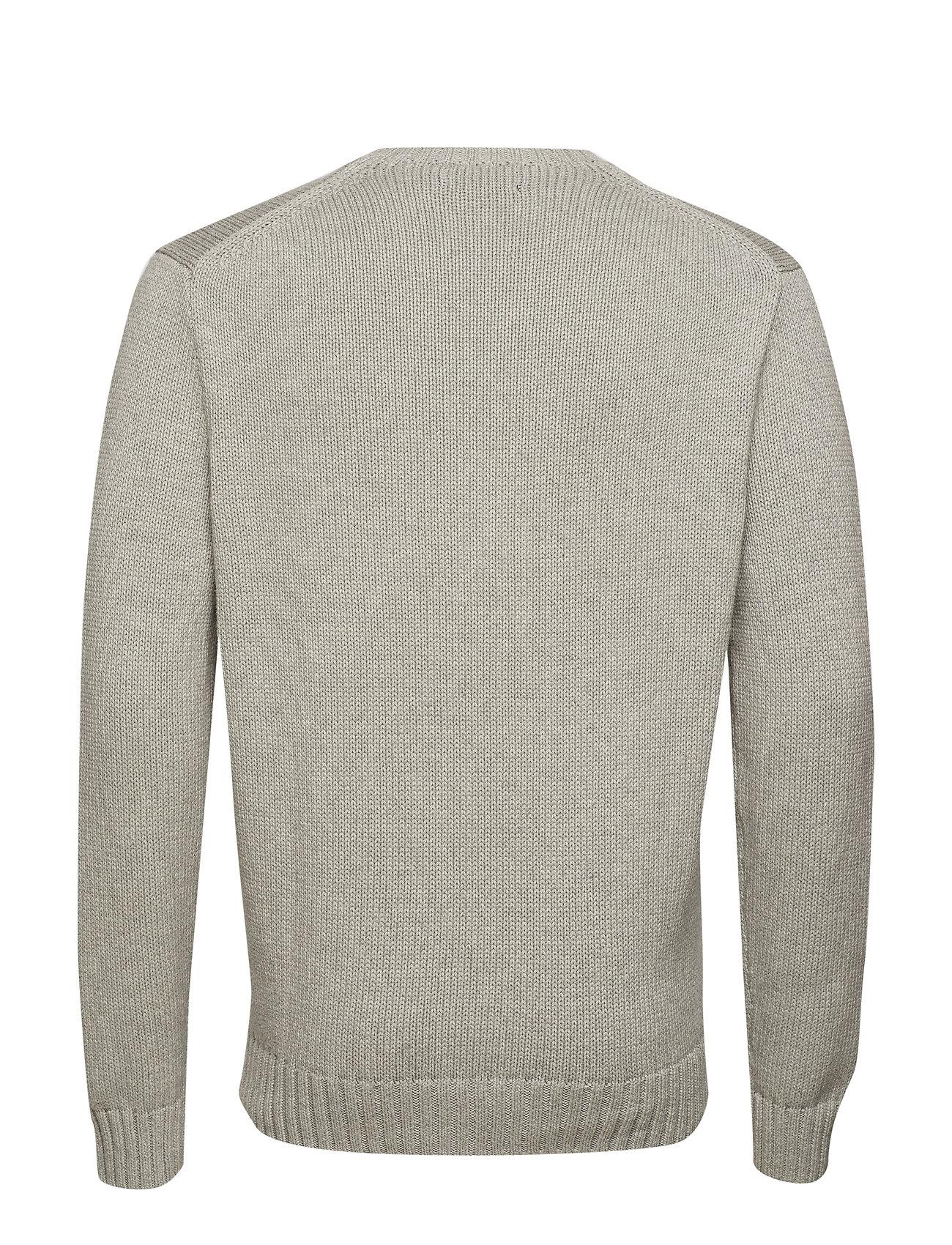 Ralph HeatherPolo Sleeve Ls sweaterandover Lauren Pp long Cn vN0O8ymnPw