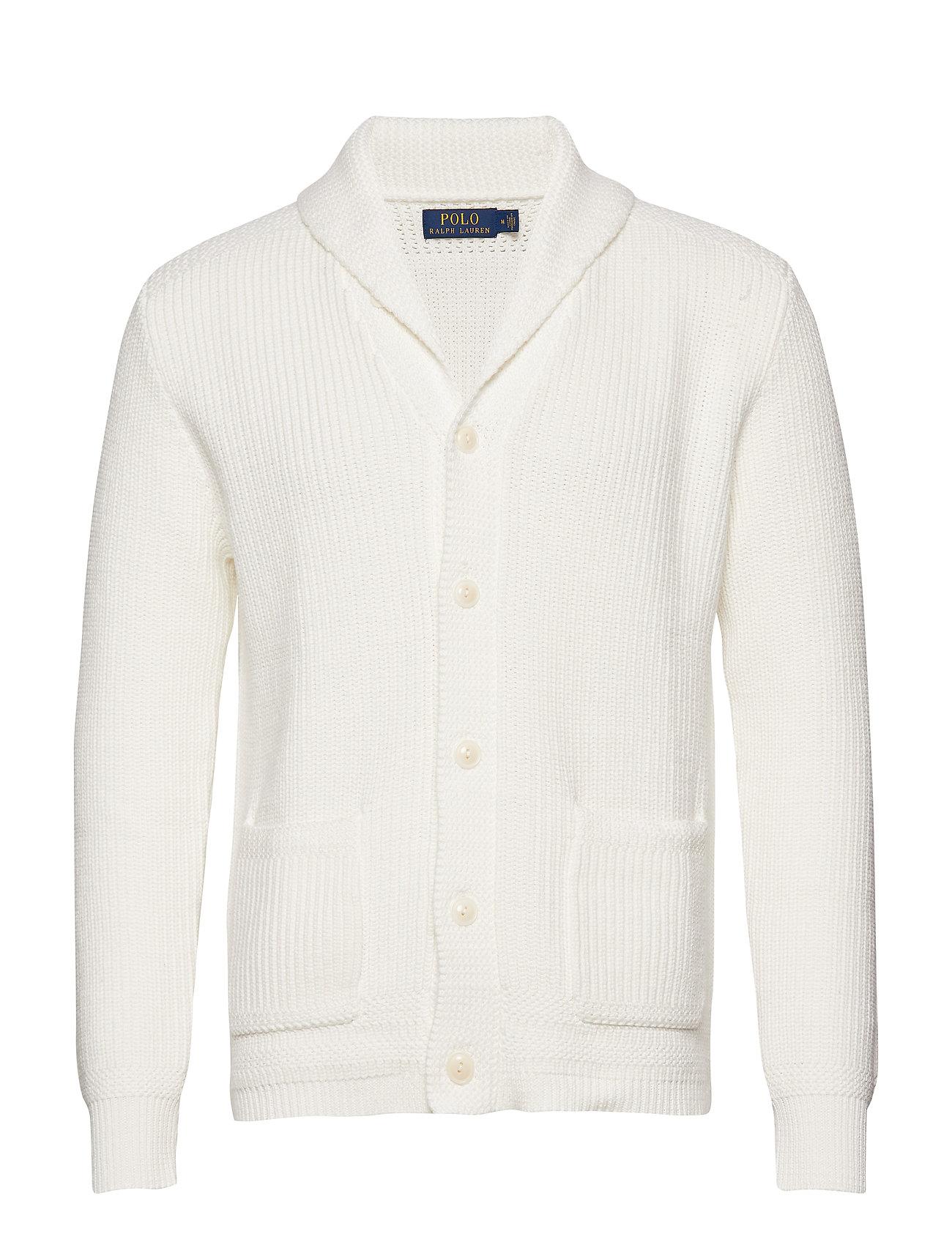 Polo Ralph Lauren Cotton Shawl-Collar Cardigan - WHITE
