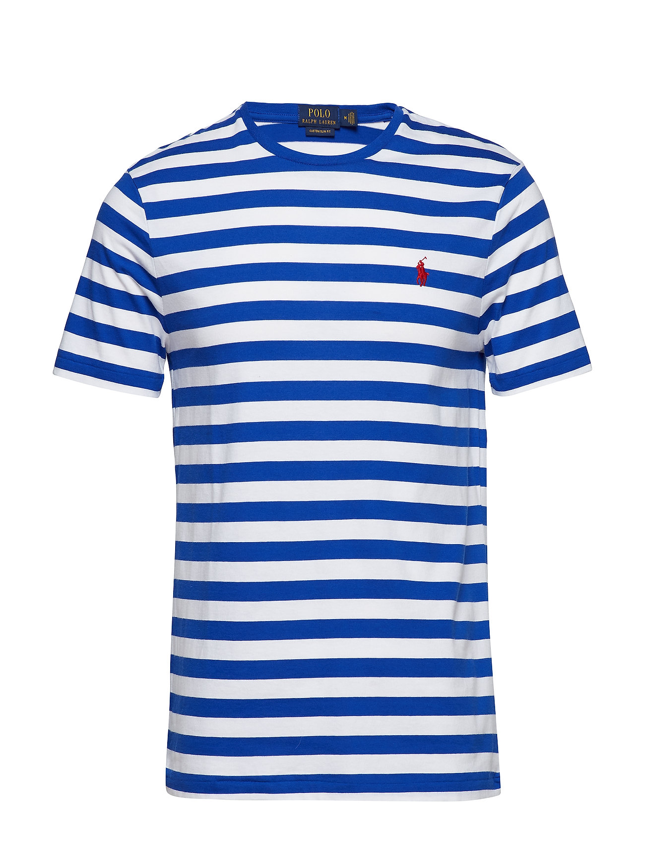 9275ce87d Custom Slim Fit Cotton T-shirt (Cruise Royal whit) (£49) - Polo ...