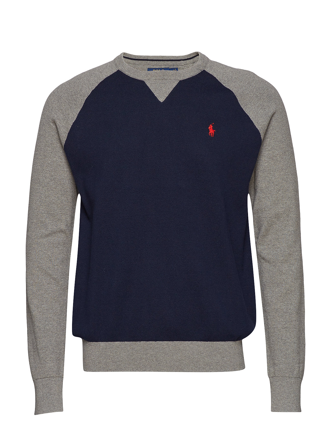 grey MultiPolo Ralph Color Cotton Lauren Sweaternavy blocked I7bgvy6Yf