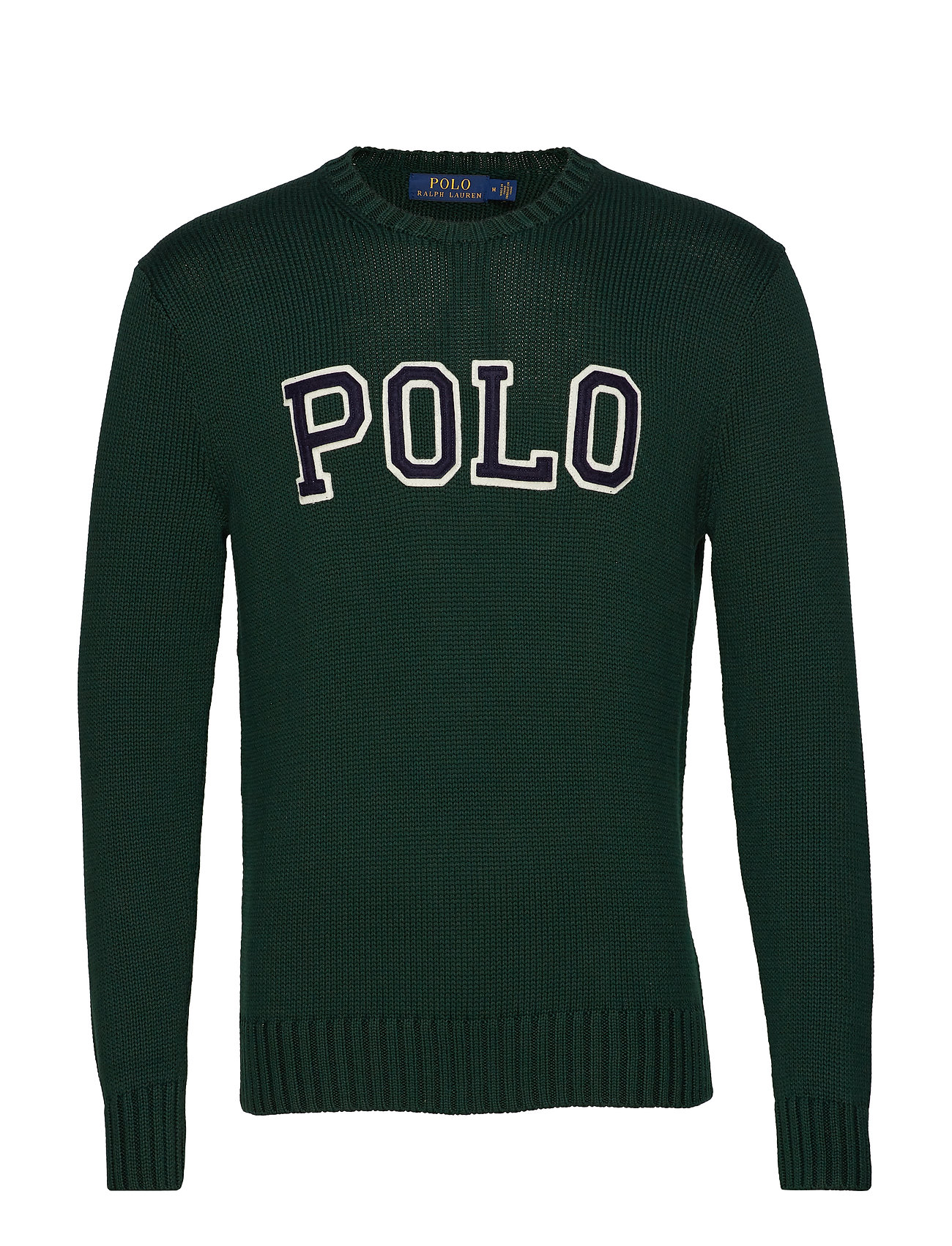 Polo Ralph Lauren Cotton Crewneck Sweater - COLLEGE GREEN/NAV