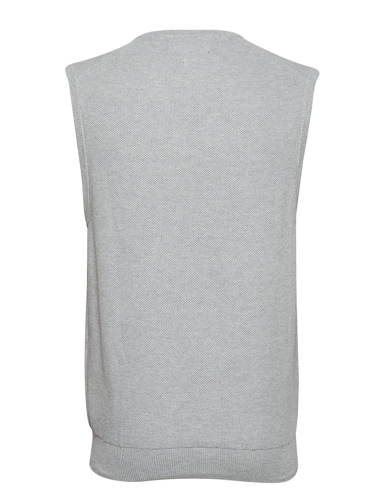 HeatherPolo Cotton Sweater Vestandover V Ralph neck Lauren 34L5AqRcj