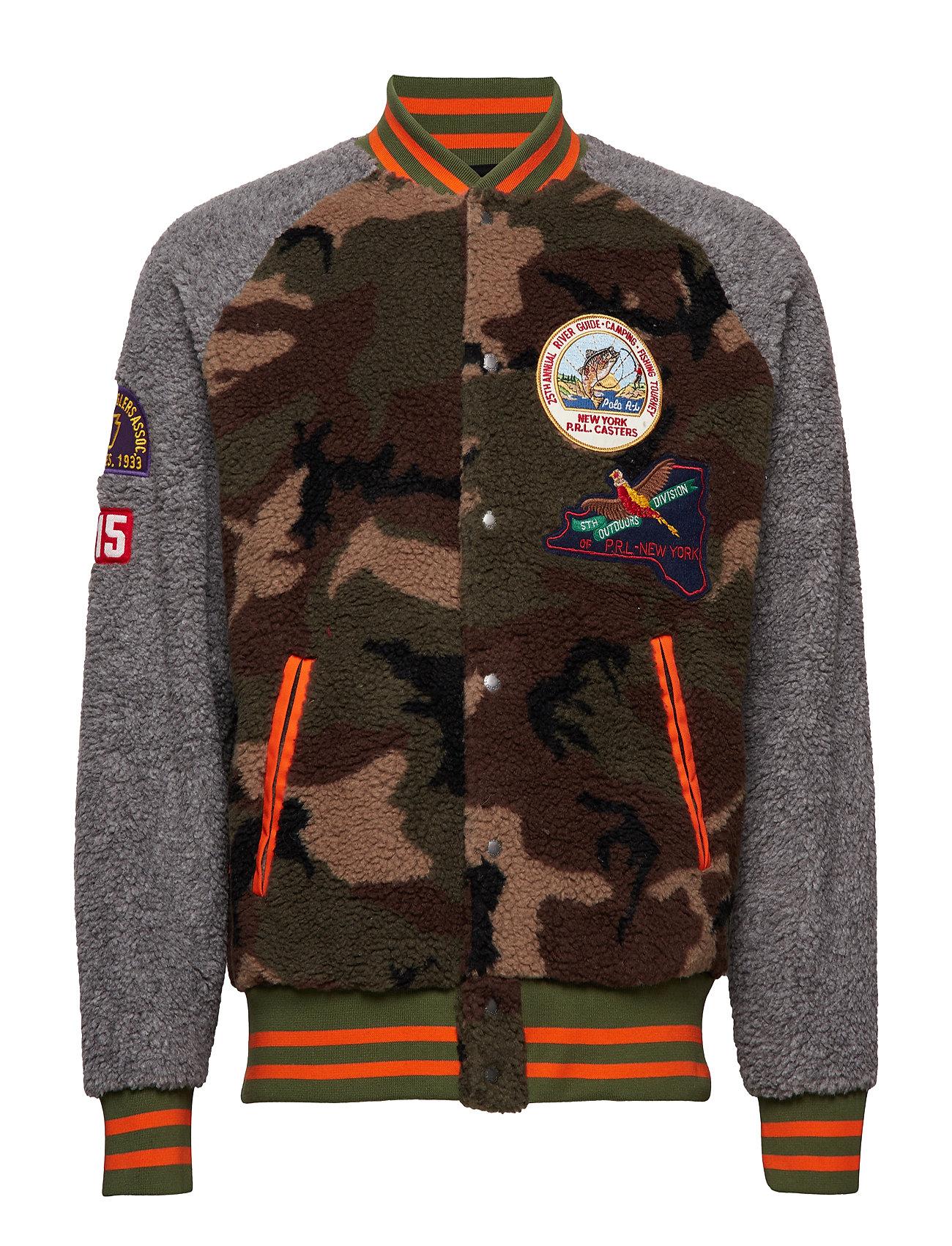 5e80d50908130 Camo Fleece Baseball Jacket (Camo/dark Vintage) (£142.45) - Polo ...