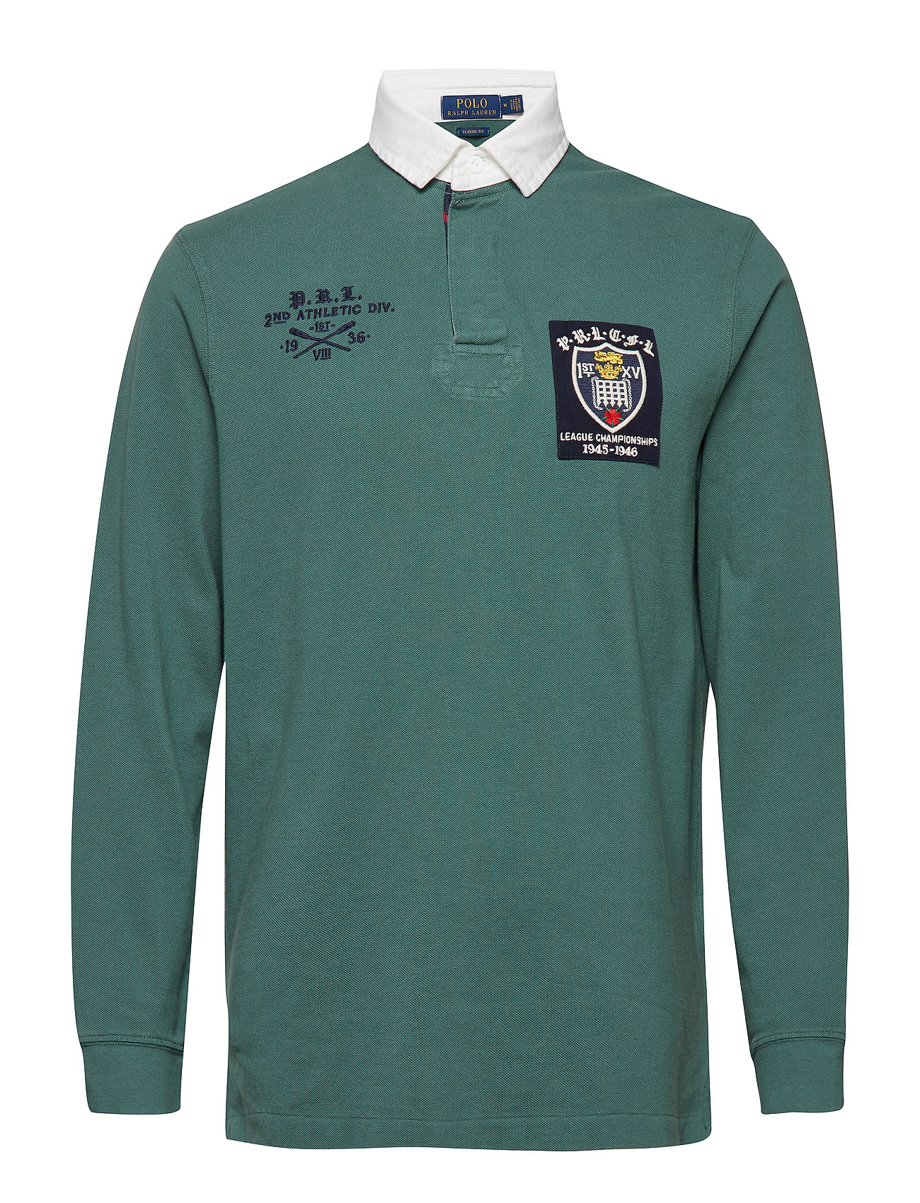 Polo Ralph Lauren Classic Fit Mesh Rugby Shirt - WASHED FOREST