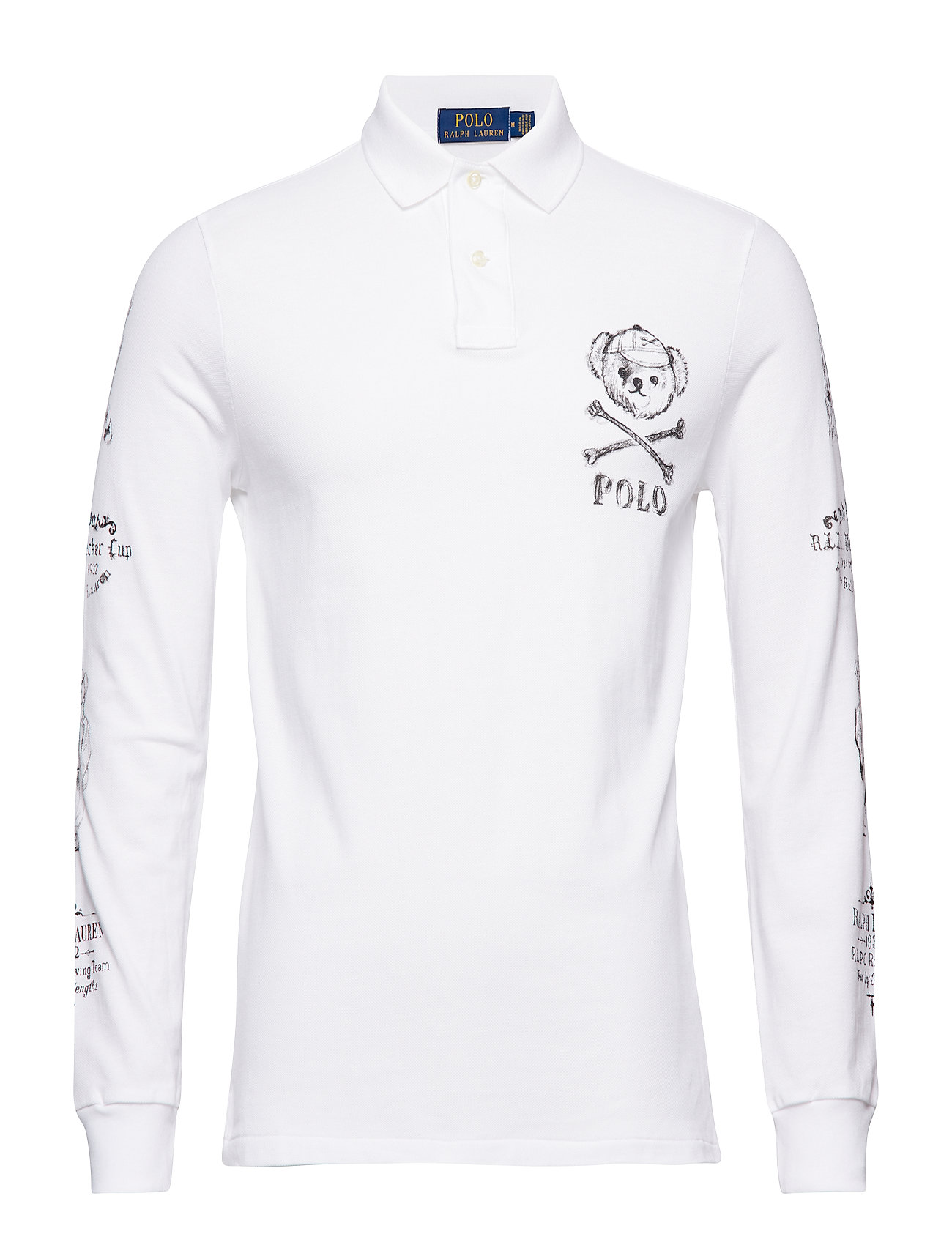 fac2f0d79a7b Custom Slim Long-sleeve Polo (Classic Oxford Wh) (118.97 €) - Polo ...