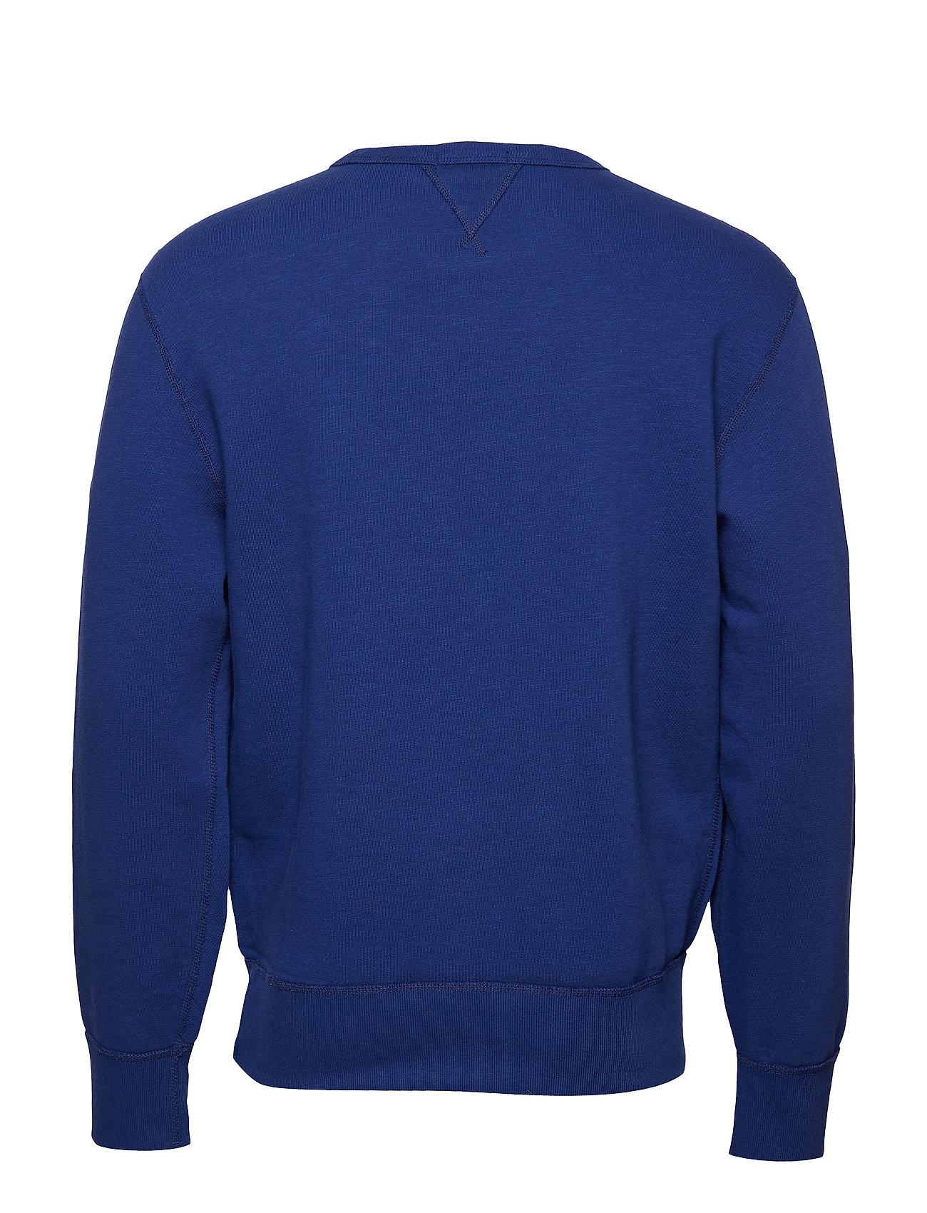 Ralph fleece BluePolo Lauren Sweatshirtyale blend Cotton L5j3RA4