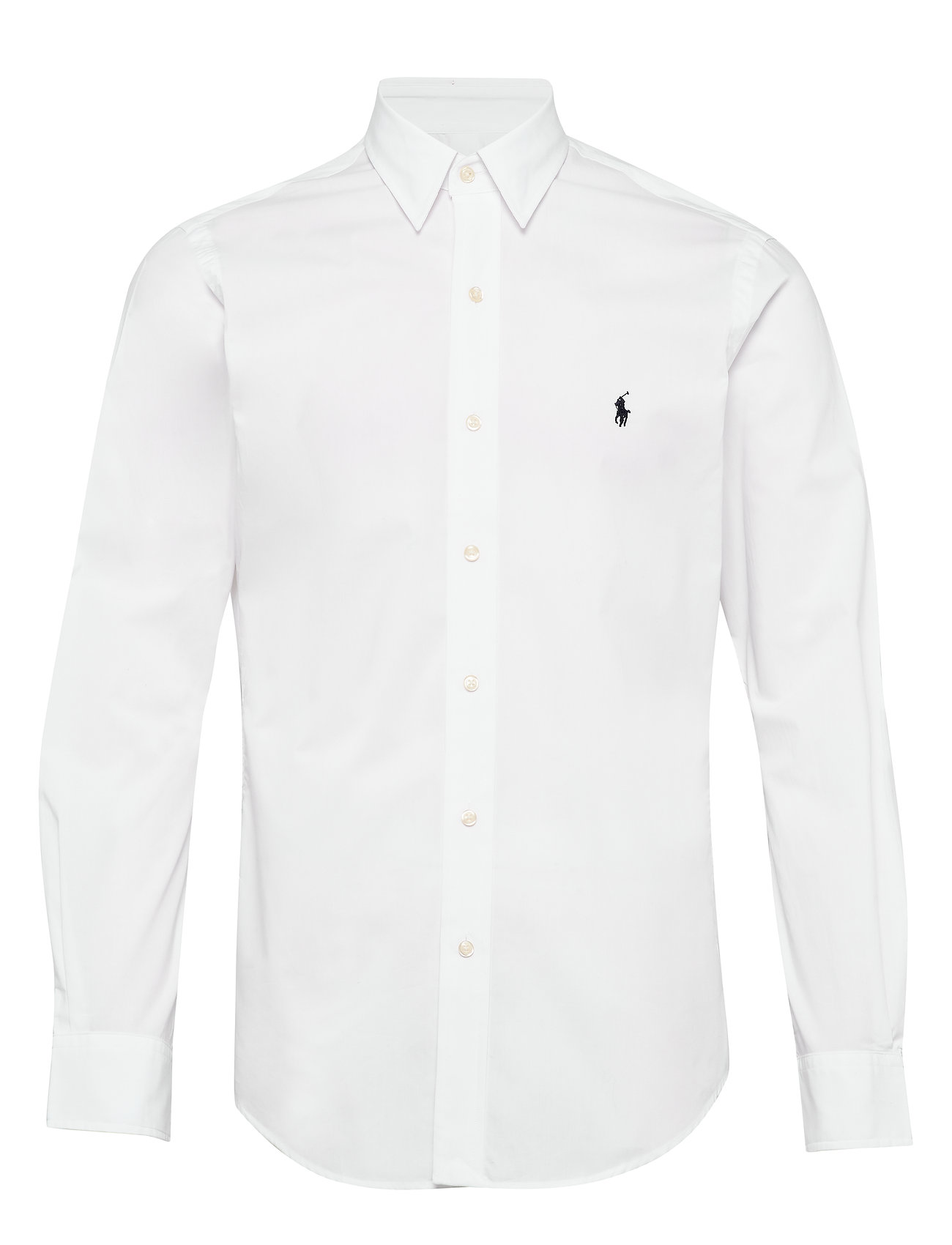 Polo Ralph Lauren Slim Fit Plaid Poplin Shirt - WHITE