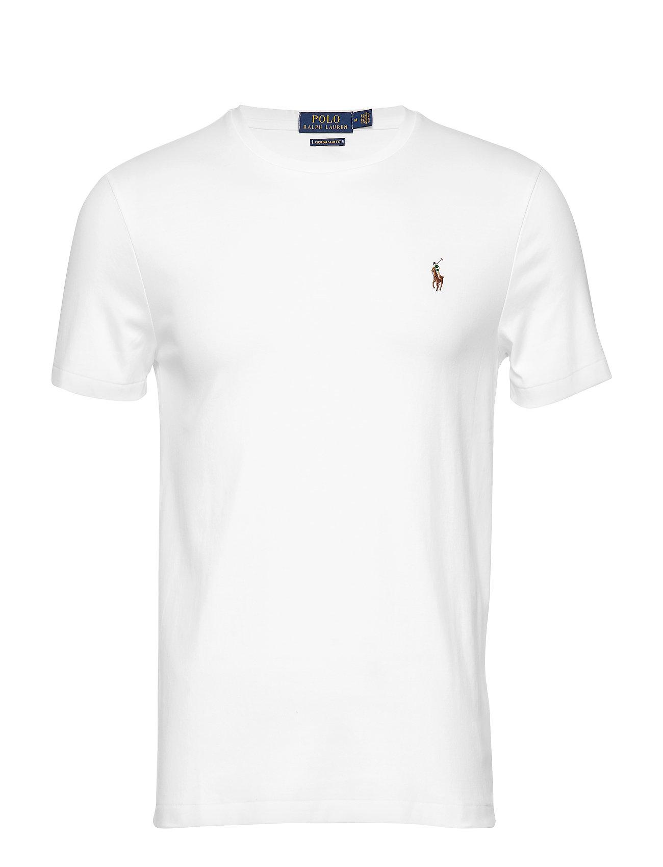 Polo Ralph Lauren Custom Slim Fit Interlock Tee - WHITE