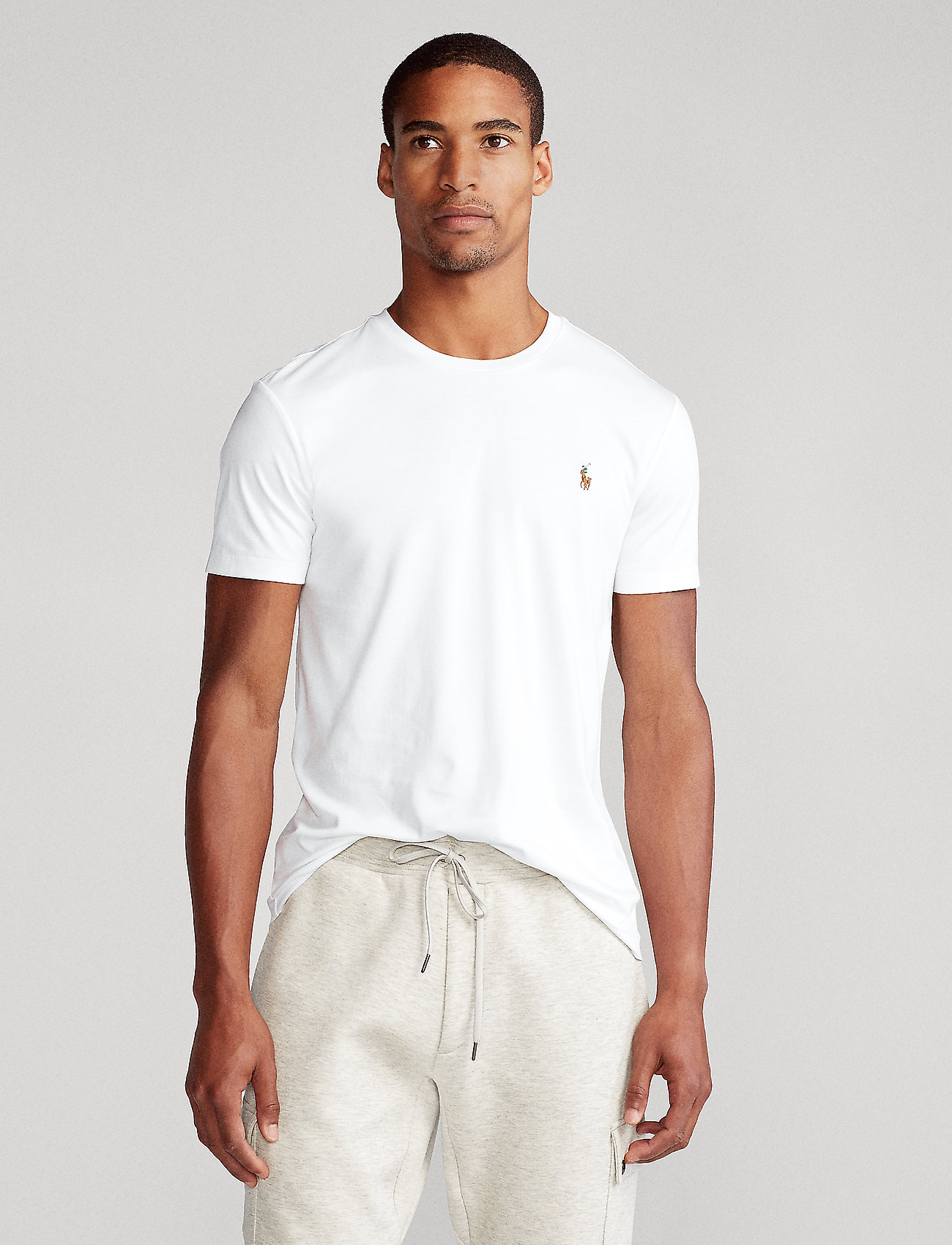 Polo Ralph Lauren - Custom Slim Soft Cotton Tee - basic t-shirts - white - 0