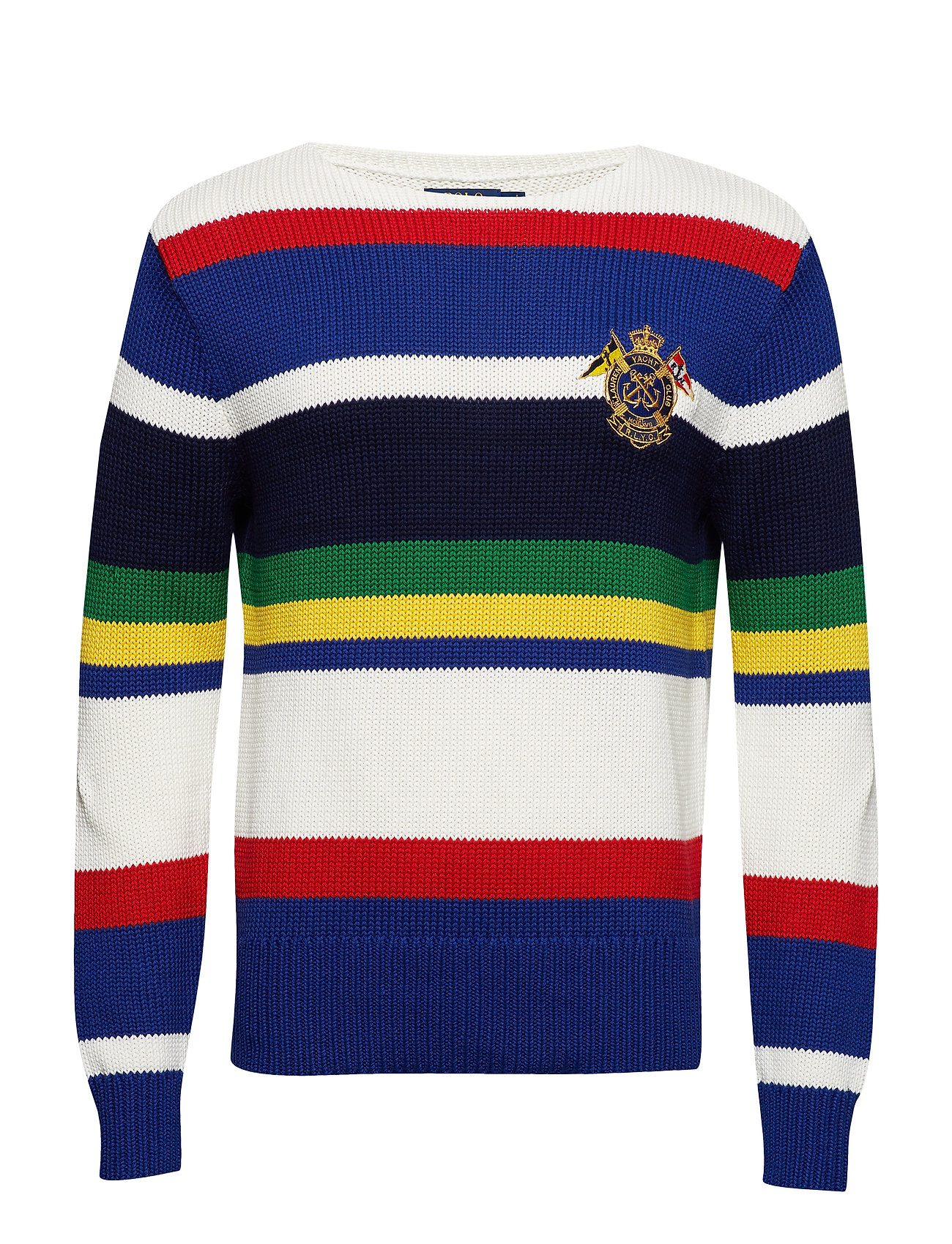 Polo Ralph Lauren LSSTRBOATCN-LONG SLEEVE-SWEATER - WHITE MULTI STRIP