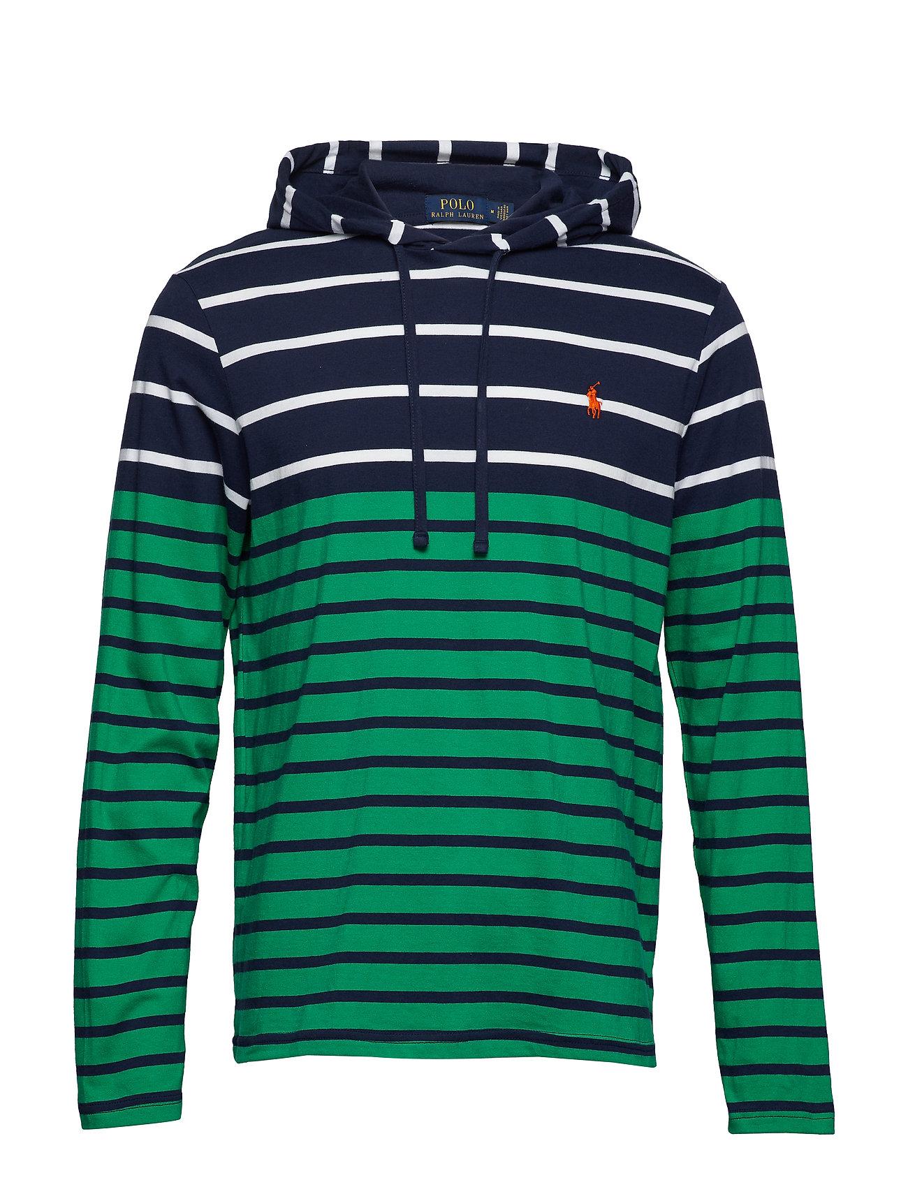 Polo Ralph Lauren Striped Cotton Hooded Tee Ögrönlar