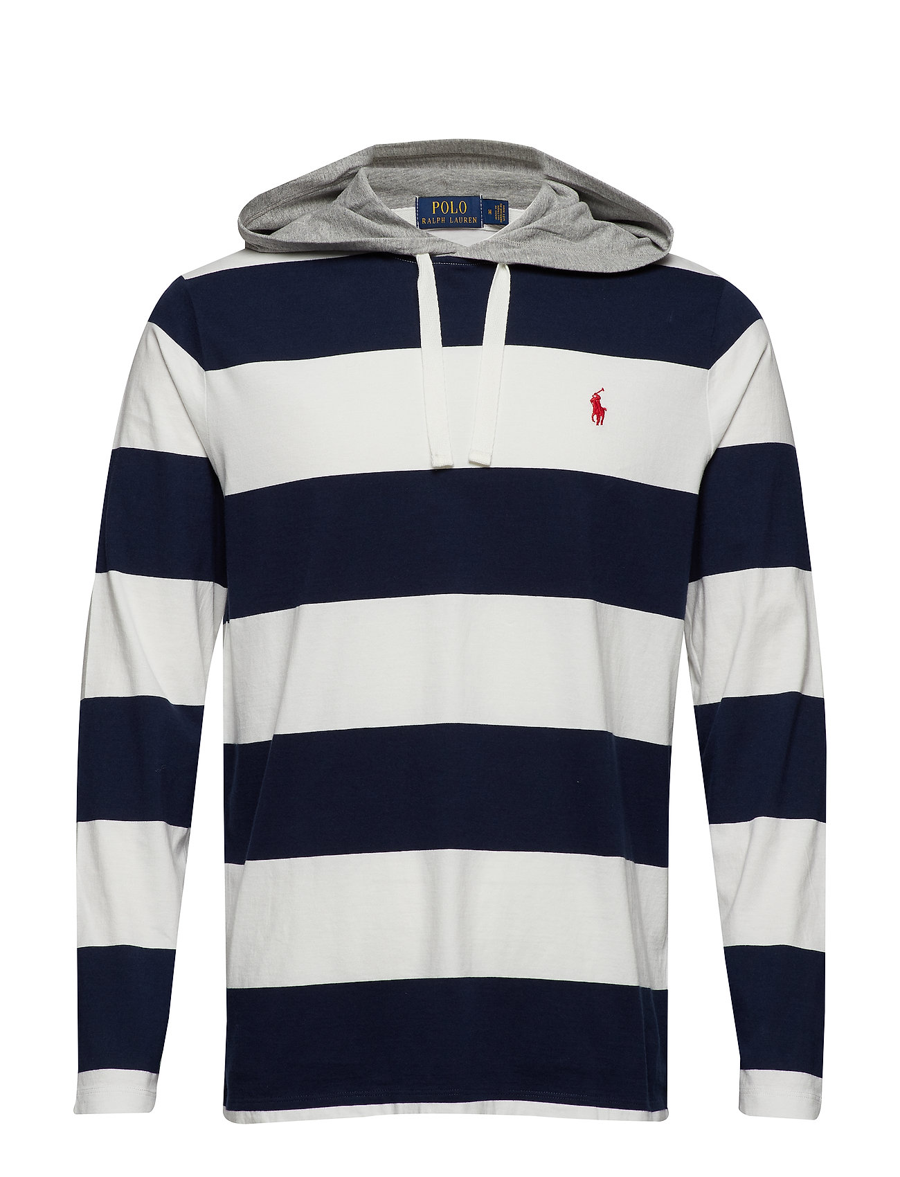 4732d225940 Cotton Jersey Hooded T-shirt (Cruise Navy/deckw) (£51) - Polo Ralph ...