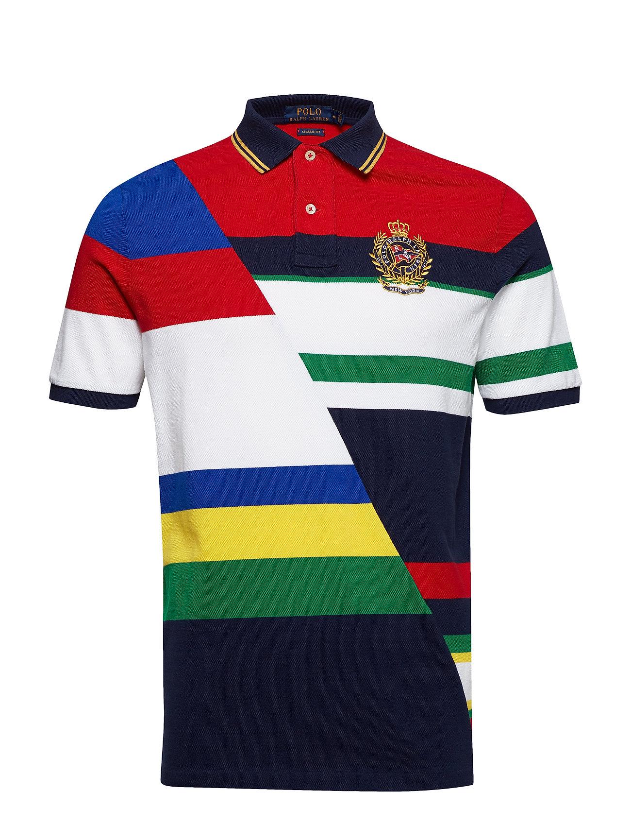 c4558c9b0abc Sskccls M2-short Sleeve-knit (Cruise Navy Multi) (£108) - Polo Ralph ...